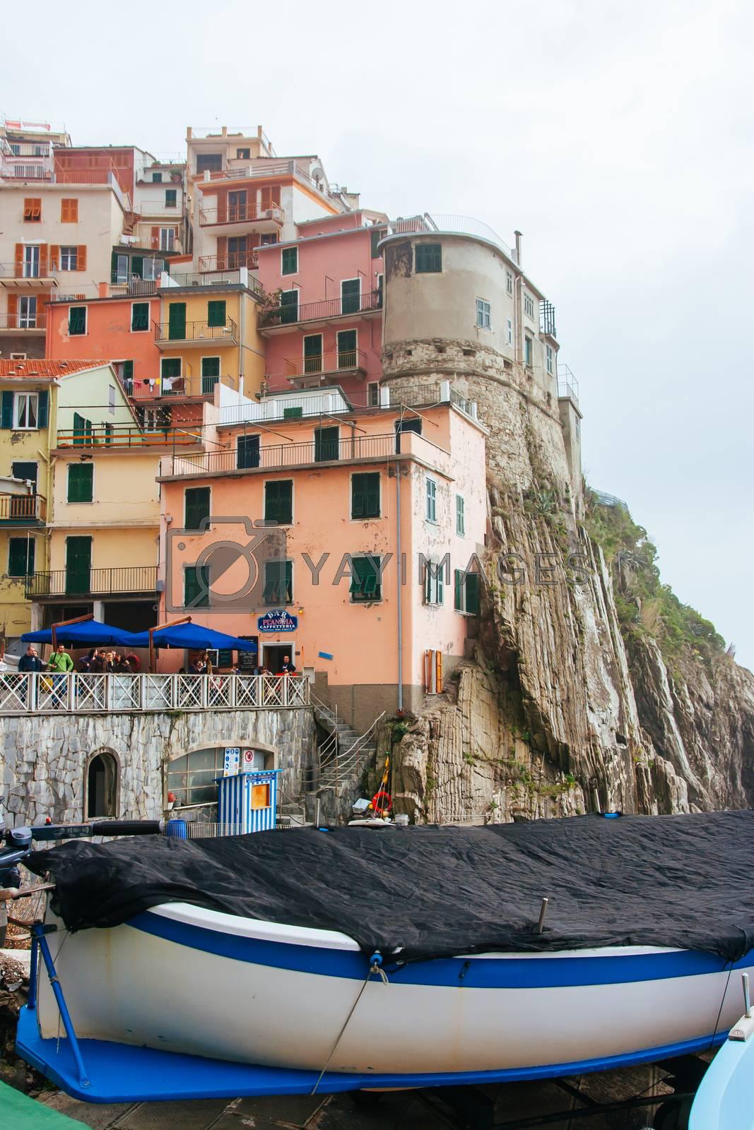 Royalty free image of Manarola in Cinque Terre Italy by FiledIMAGE