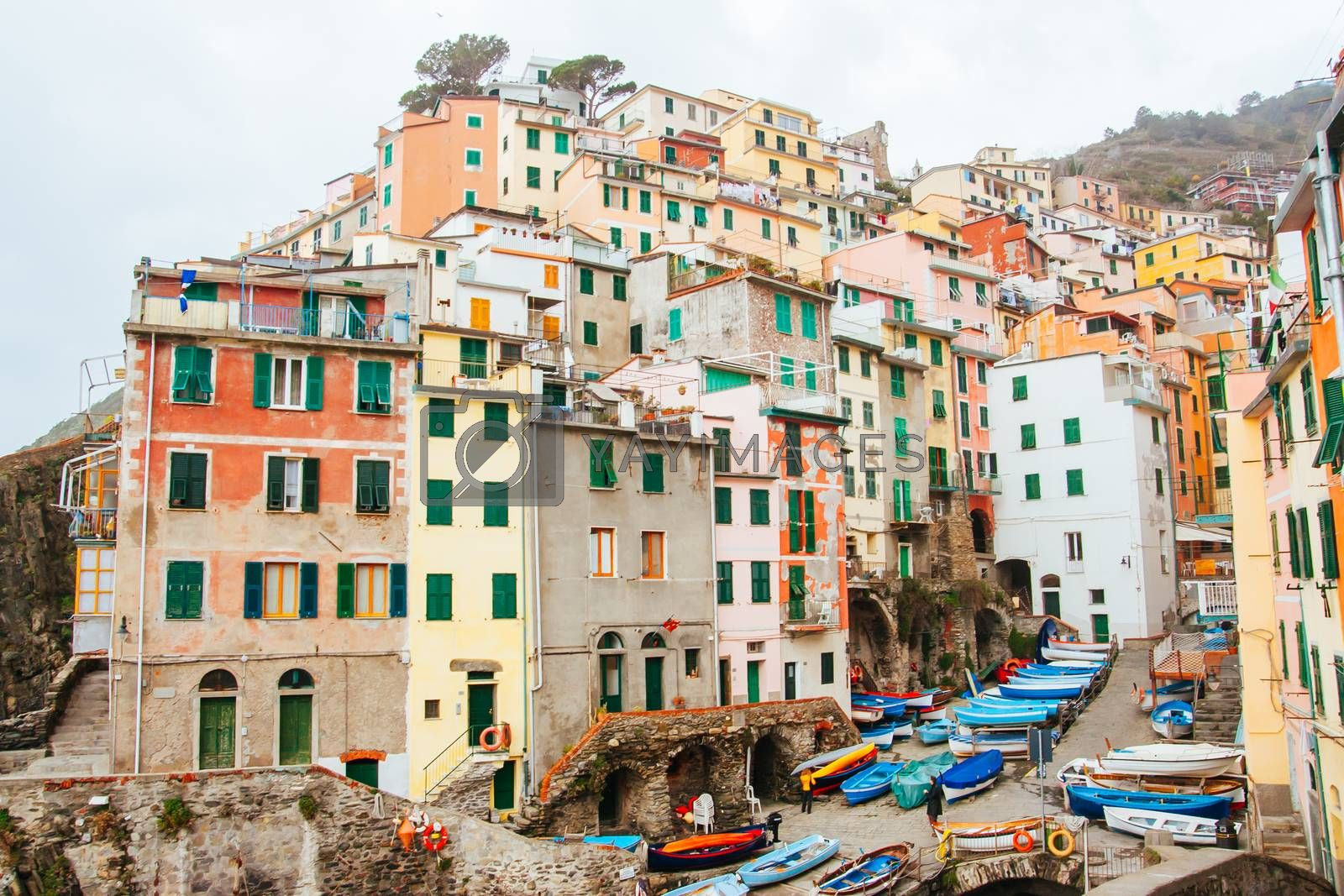 Royalty free image of Riomaggiore Harbour Area in Italy by FiledIMAGE