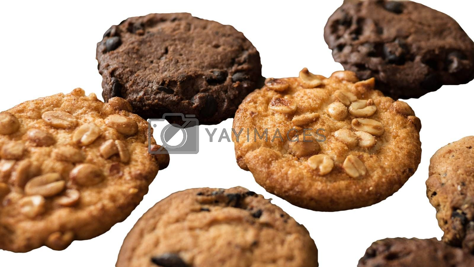 Royalty free image of Peanut cookie isolated on white,close-up. by Andriii_Klapkoo