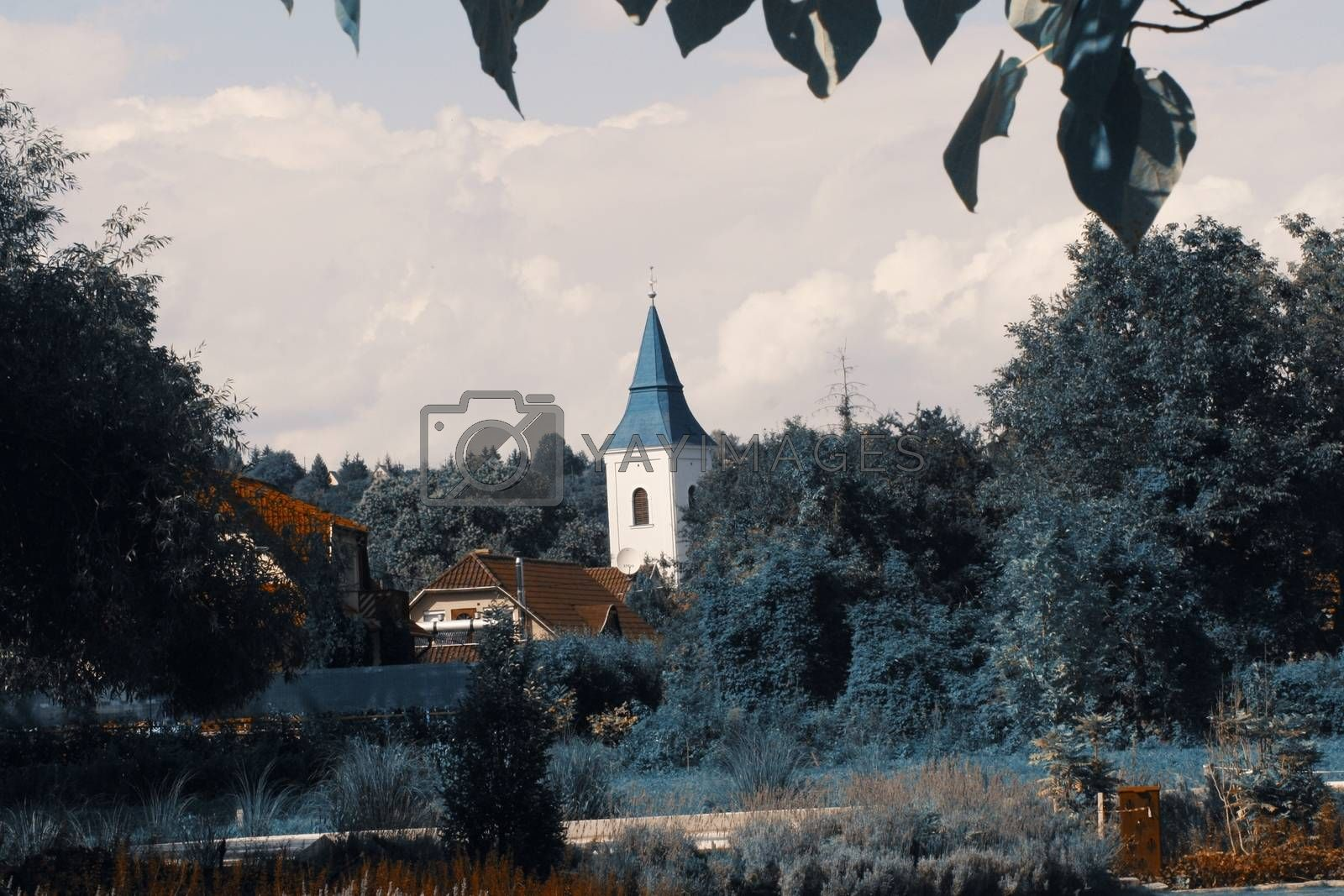 Royalty free image of A castle surrounded by trees by balage941