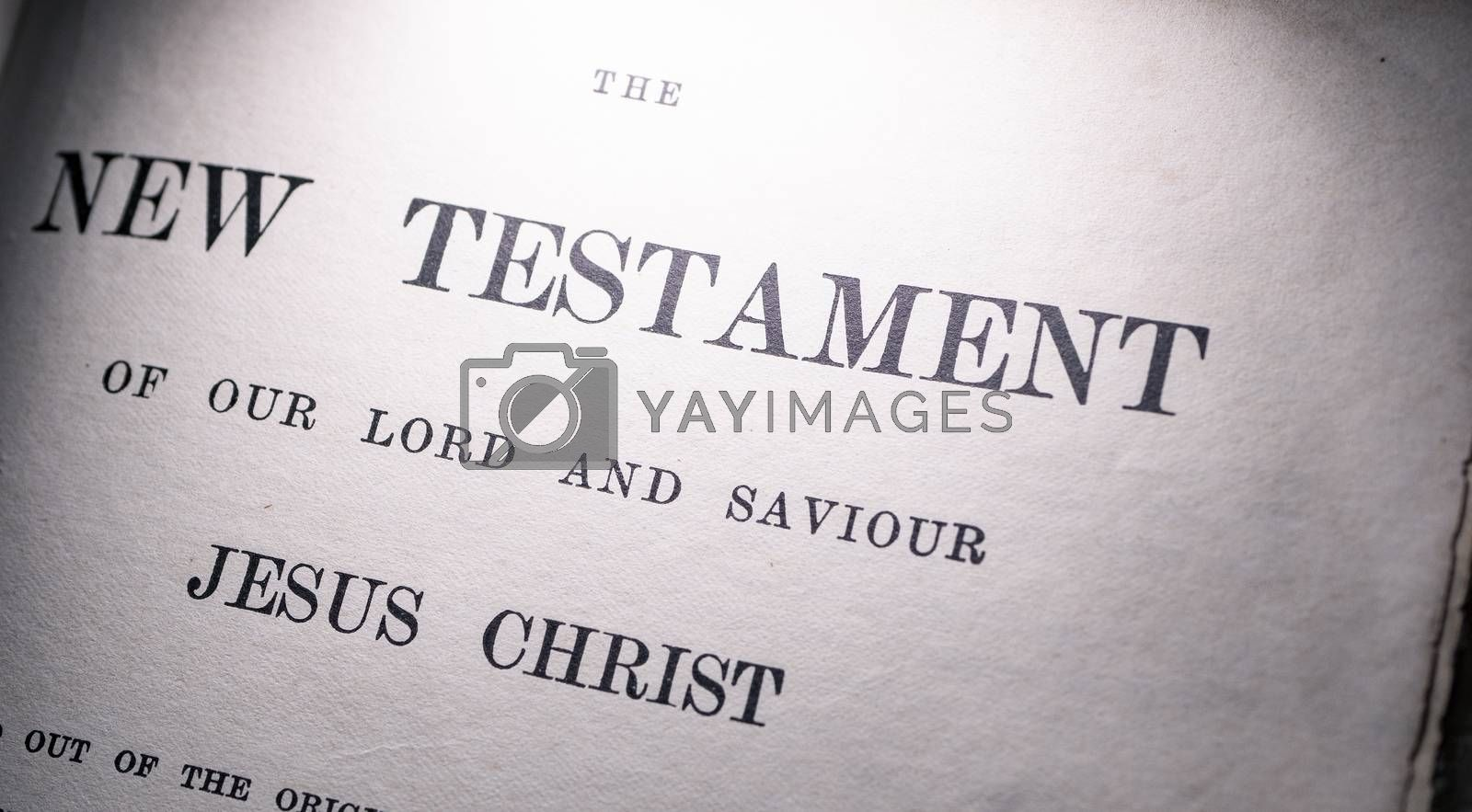 Royalty free image of Close up of old Holy Bible by Jievani