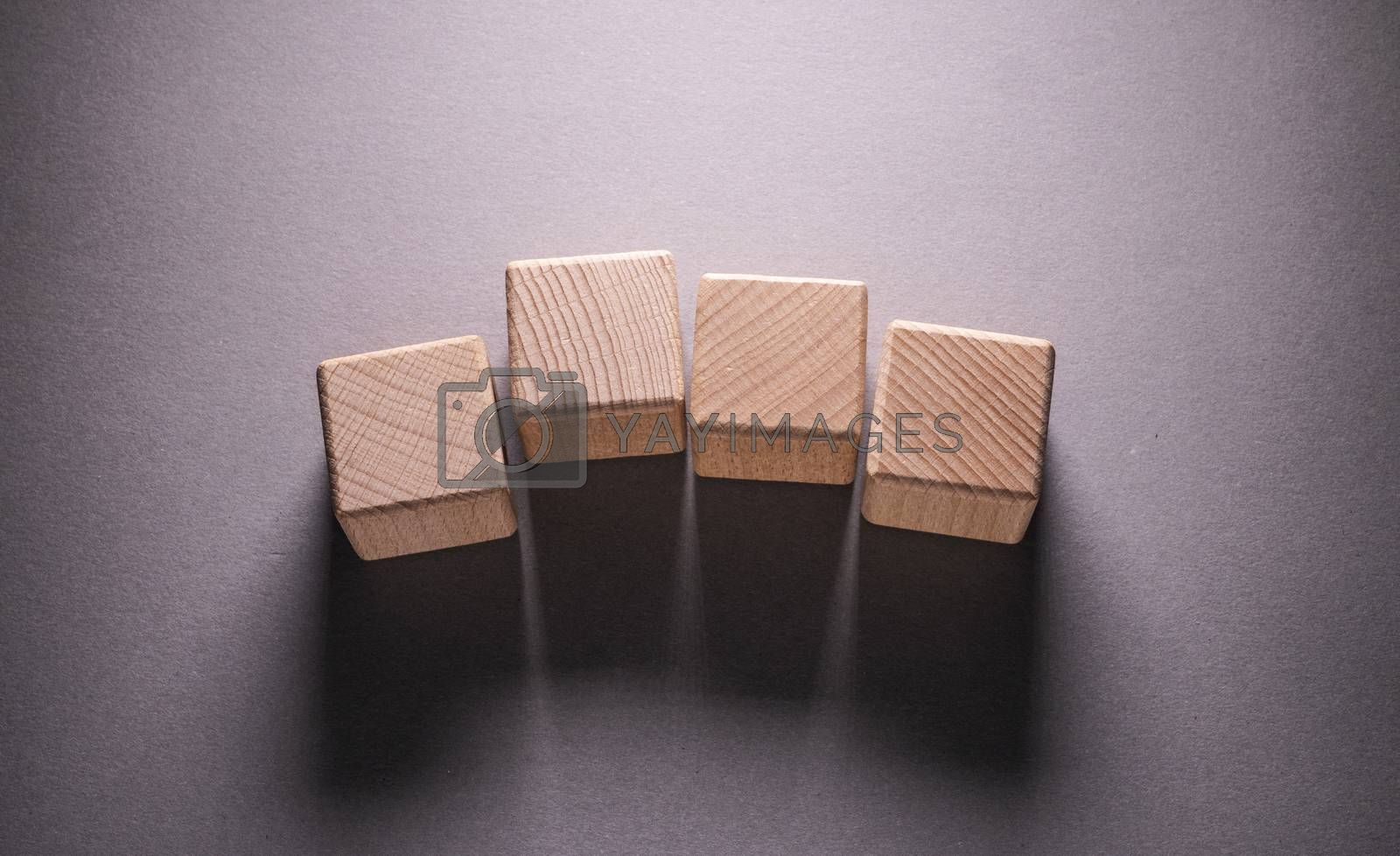 Royalty free image of Wooden Geometric Shapes Cubes by Jievani