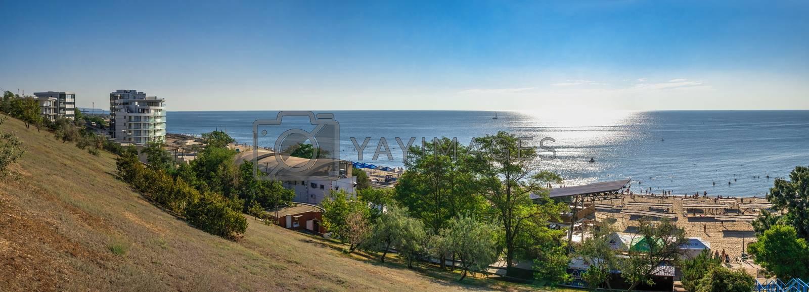Royalty free image of Public beach in Chernomorsk, Ukraine by Multipedia