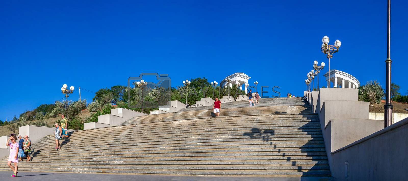 Royalty free image of Maritime Stairs in Chernomorsk, Ukraine by Multipedia