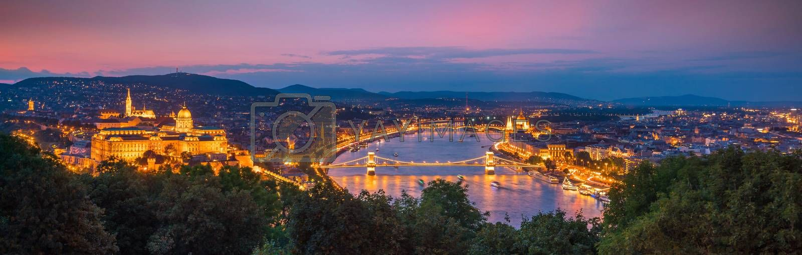 Royalty free image of Budapest skyline in Hungary by f11photo