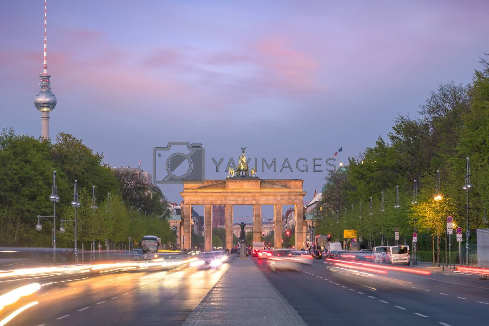 Royalty free image of The Brandenburg Gate in Berlin at sunset by f11photo