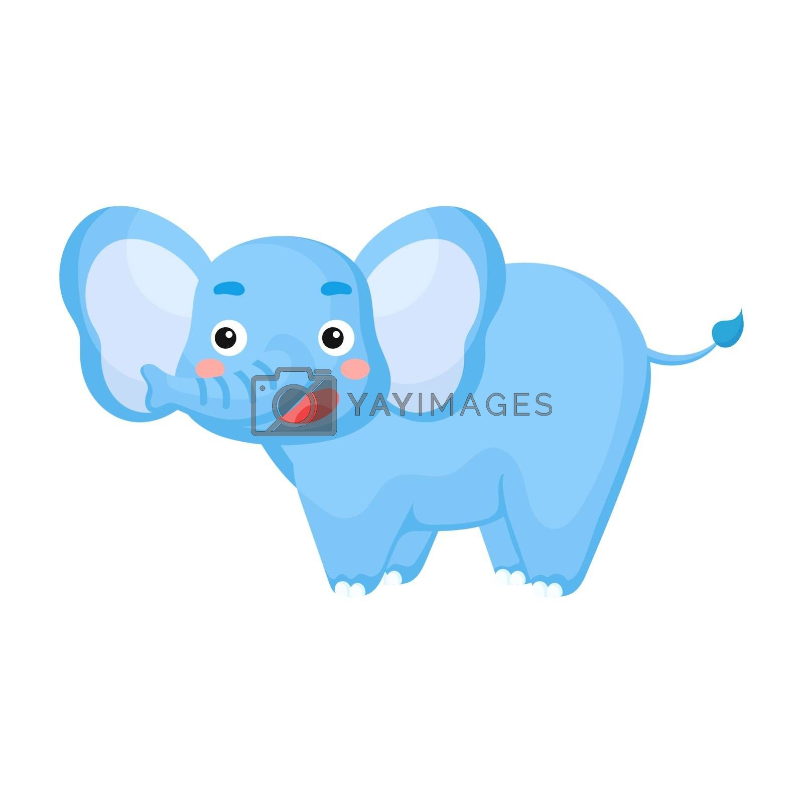 Royalty free image of Cute funny elephant print for design of album, scrapbook, greeti by Melnyk
