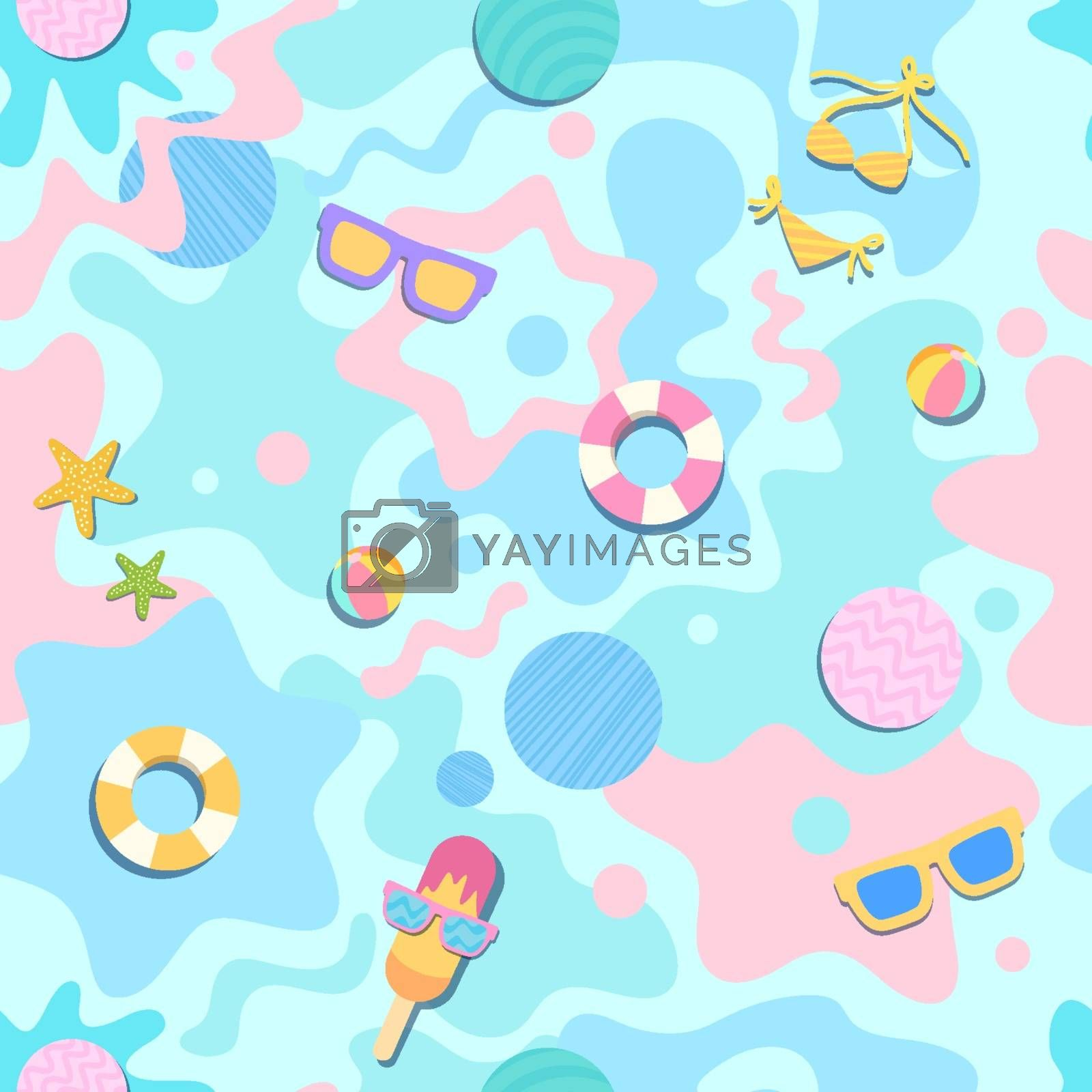 Royalty free image of summer-cut-seamless-pattern by Tharnthip