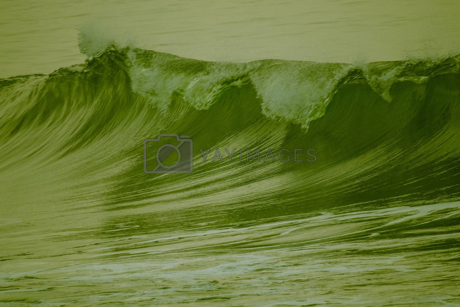 green sea water wave pattern and texture