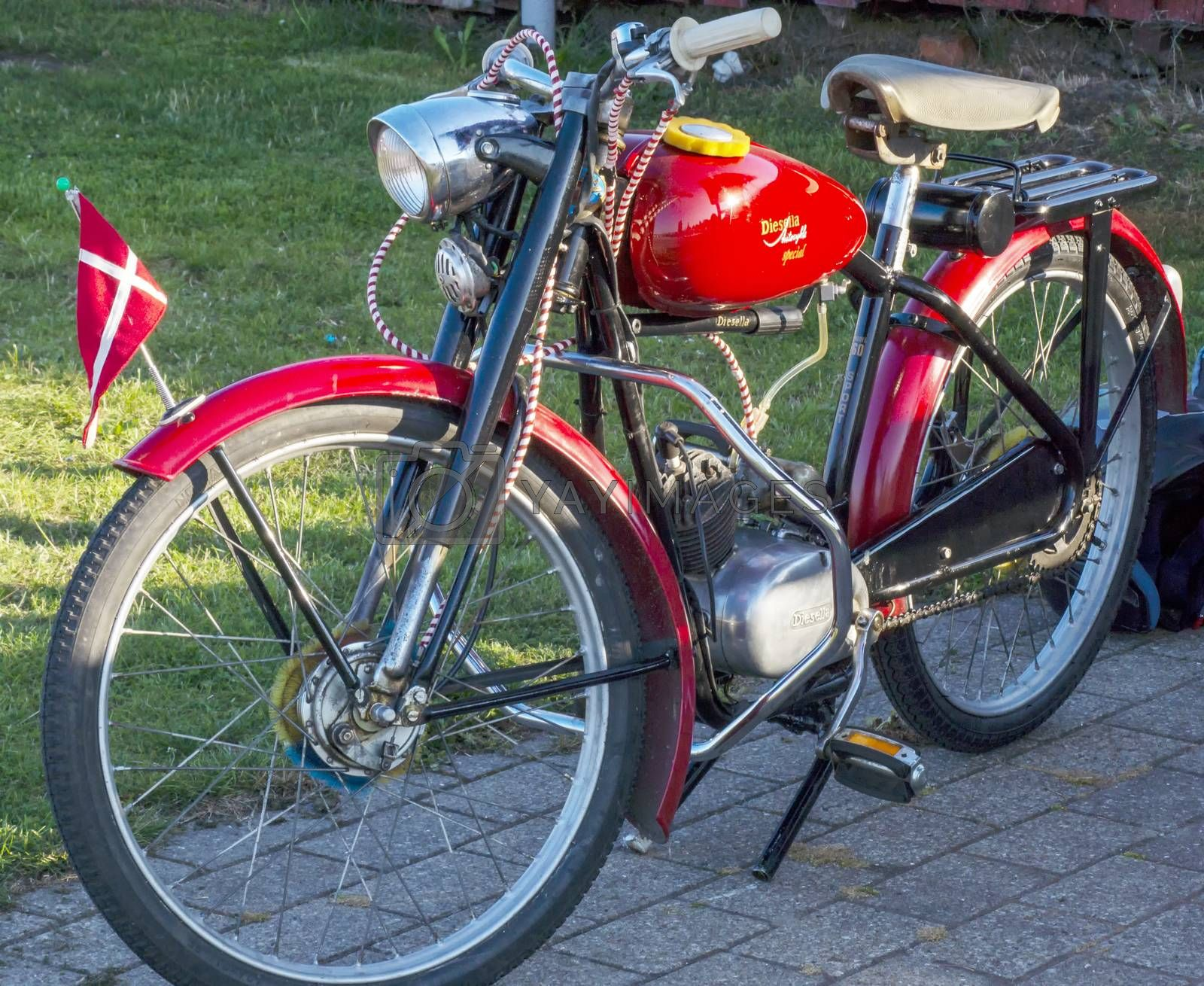 Royalty free image of Classic old motorcycle by Fr@nk