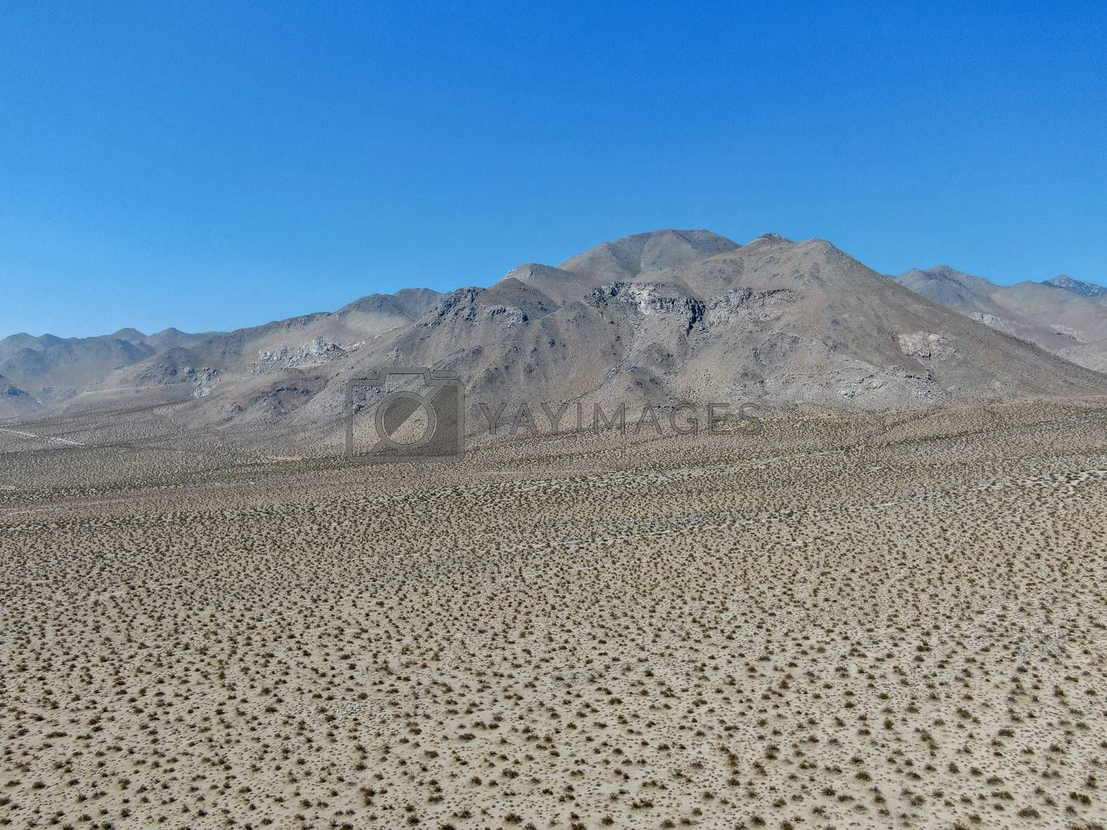 Royalty free image of Aerial view of desert hills under blue sky in California's Mojave desert, near Ridgecrest.  by Bonandbon