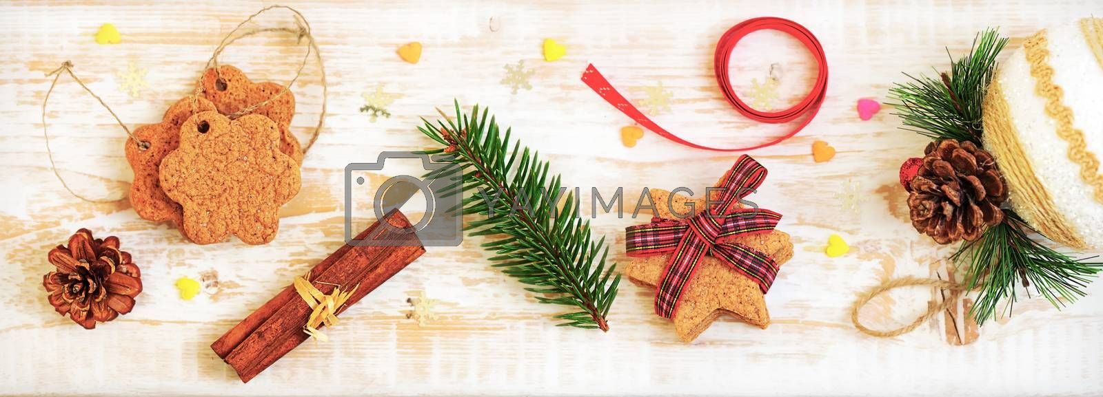 Christmas backgrounds. Christmas cookies. Holiday decorations, ornaments.