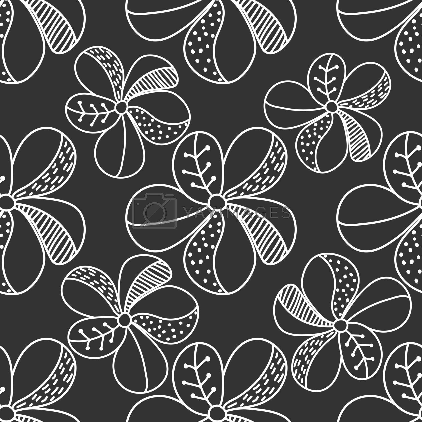 Vector seamless flower pattern for simple backgrounds and textures, fabric, packaging and wrappers, for theme design