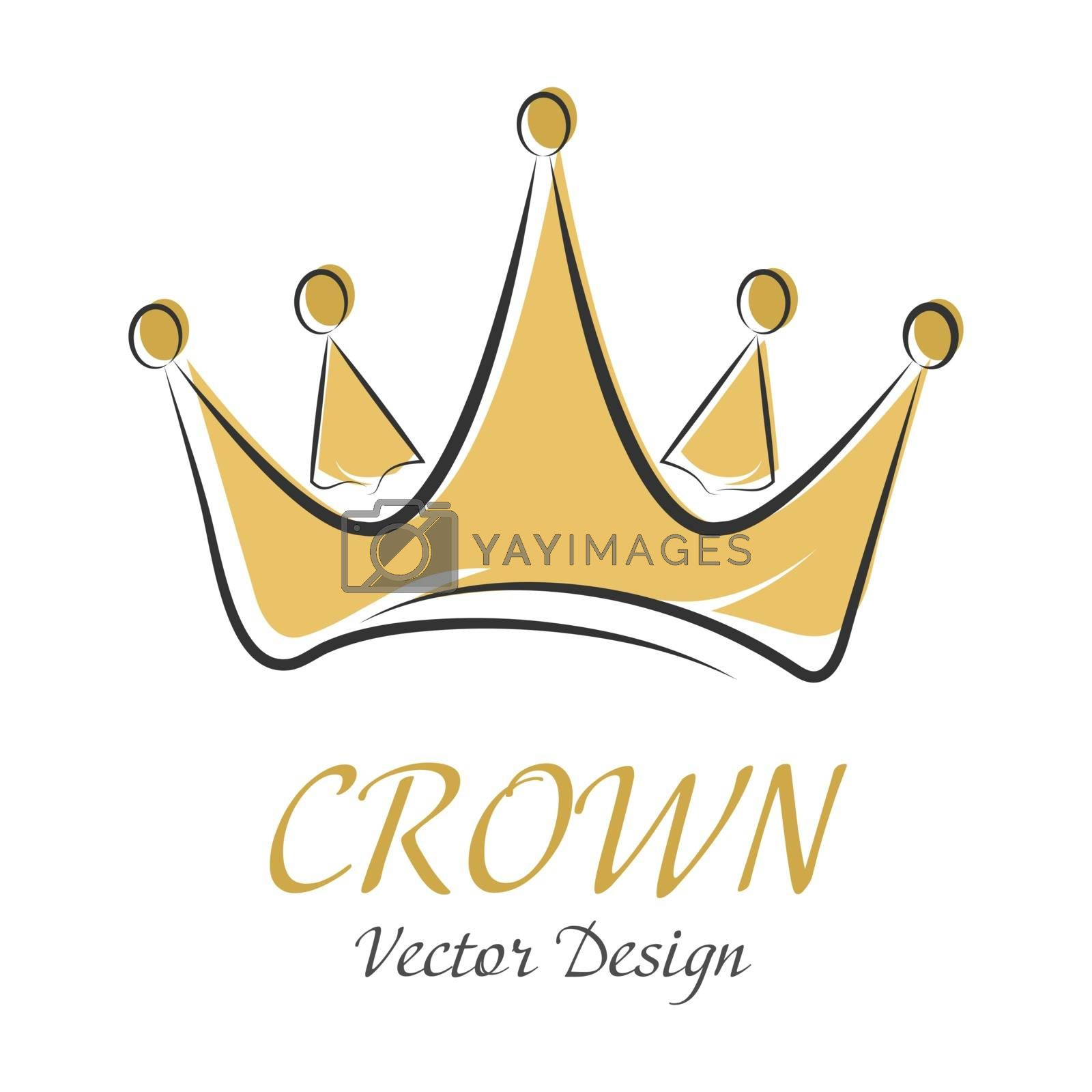 Сrown. Simple vector illustration for logo, sticker, logo or creative design isolated on white background