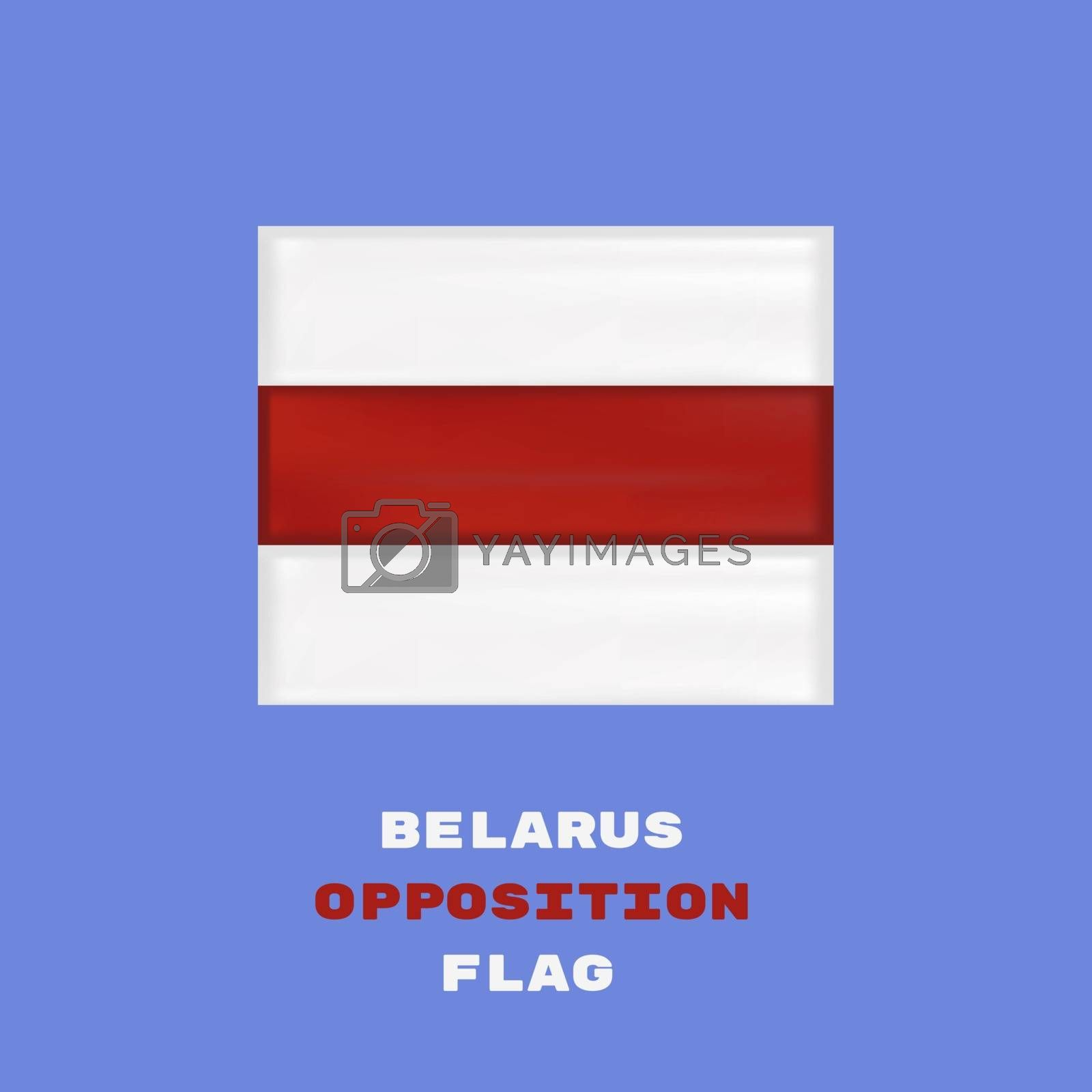 Belarus White-red-white opposition flag. Protests in Belarus.