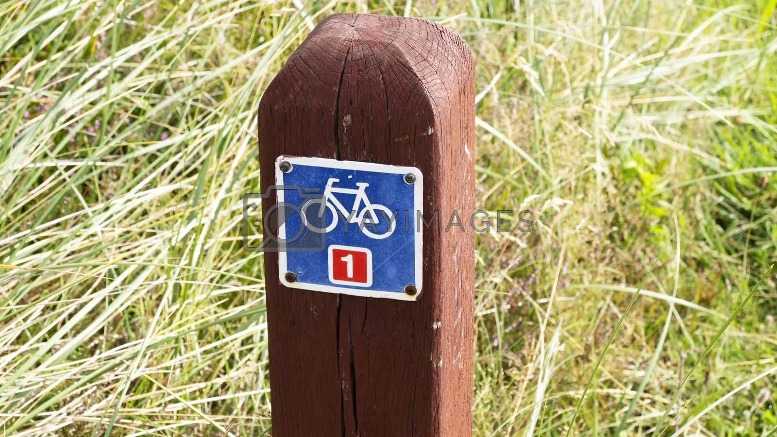 Royalty free image of Nationalpark Thy Bicycle path by Fr@nk