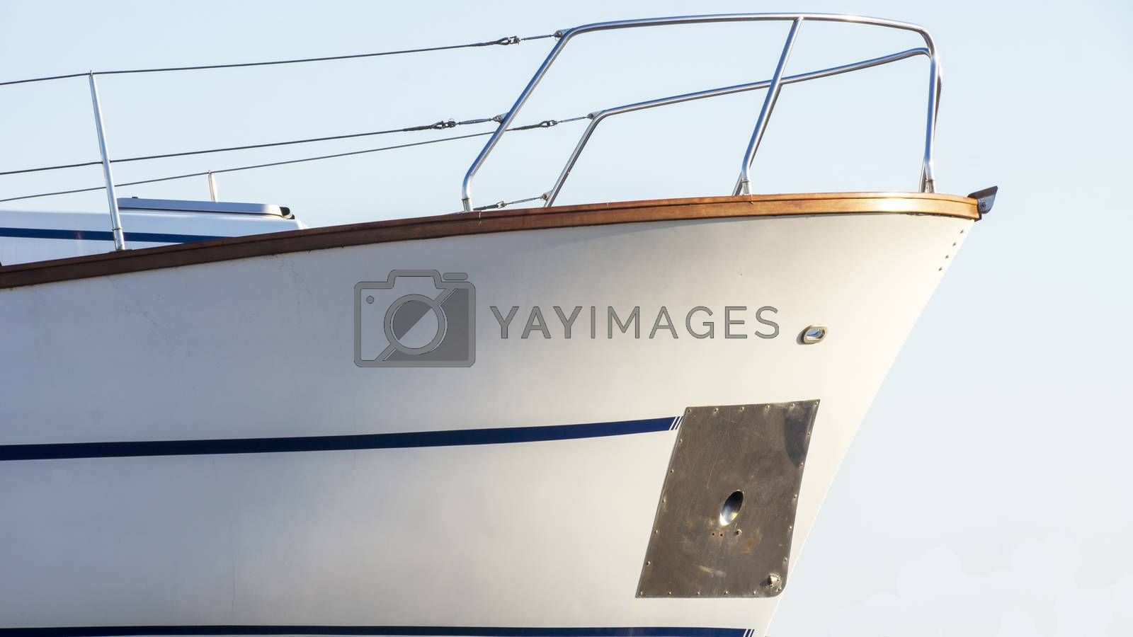 Royalty free image of The bow of a yacht by Fr@nk