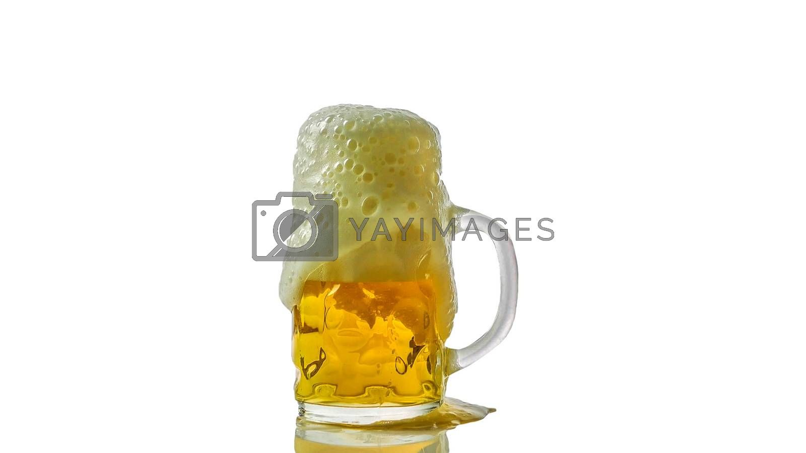 Royalty free image of Light beer in a glass with froth isolated on white,close-up by Andriii_Klapkoo