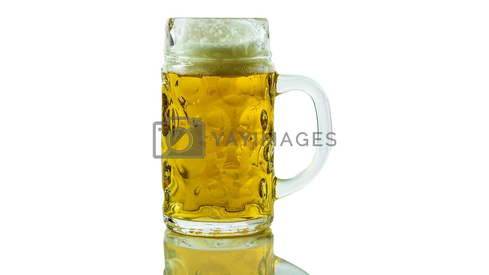 Royalty free image of Glass of light beer isolated on white background,draft beer close up,fresh alcoholic beer drink in glass. by Andriii_Klapkoo