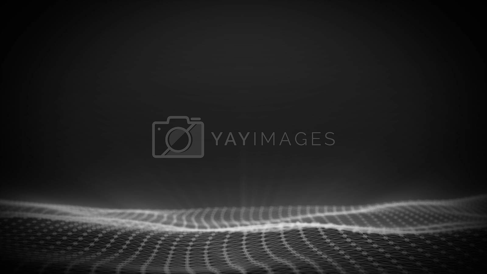 Digital wave background, abstract title, blurred animation of particle seamless.