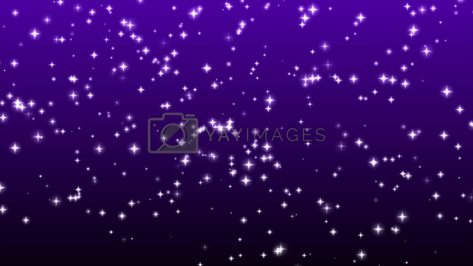 Stars sparkles on violet backgrond
