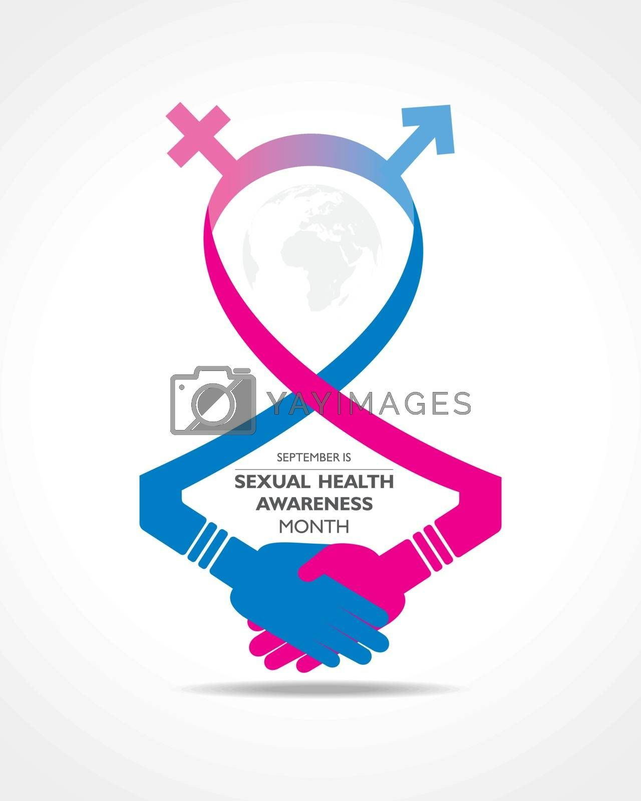 Vector Illustration Sexual Health Awareness Month Observed in September