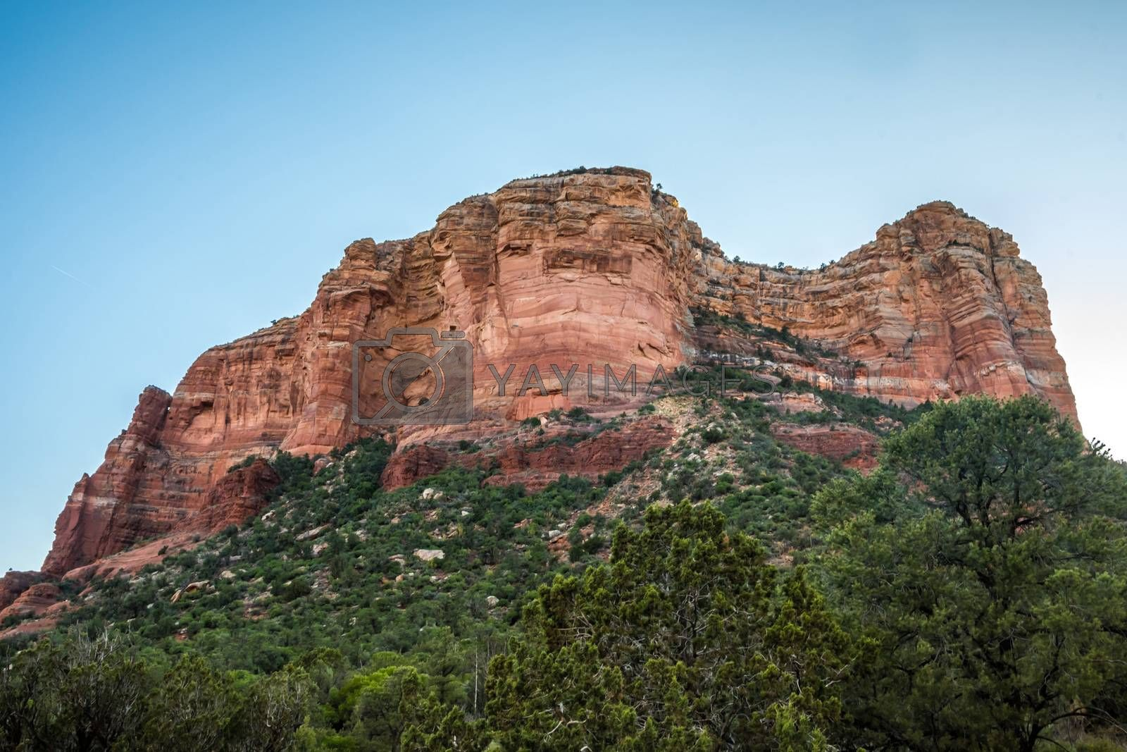 A steep canyon walls set of rock formation in the preserve park