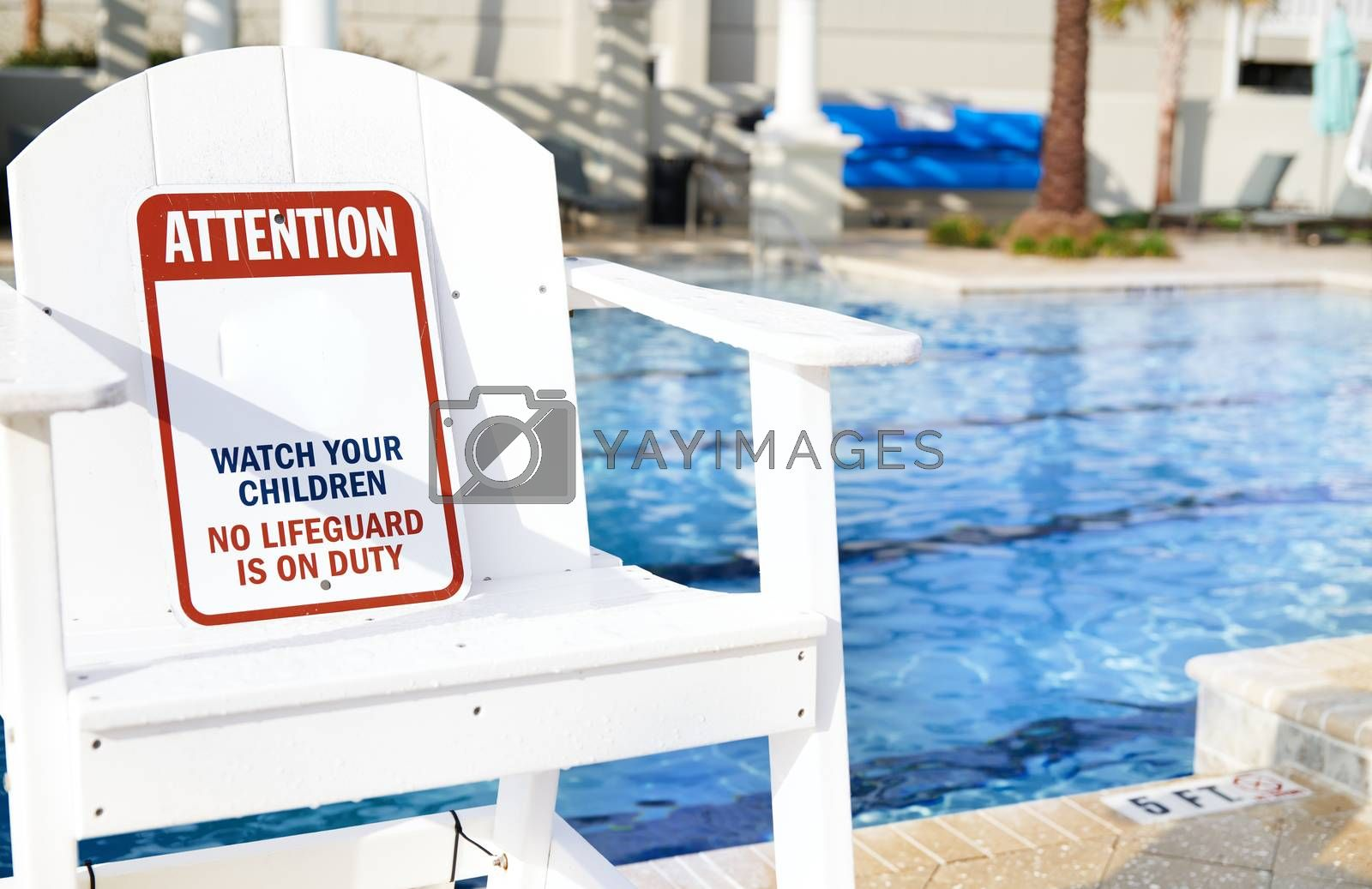 Safety Information Sign in the outdoors swimming pool by Novic