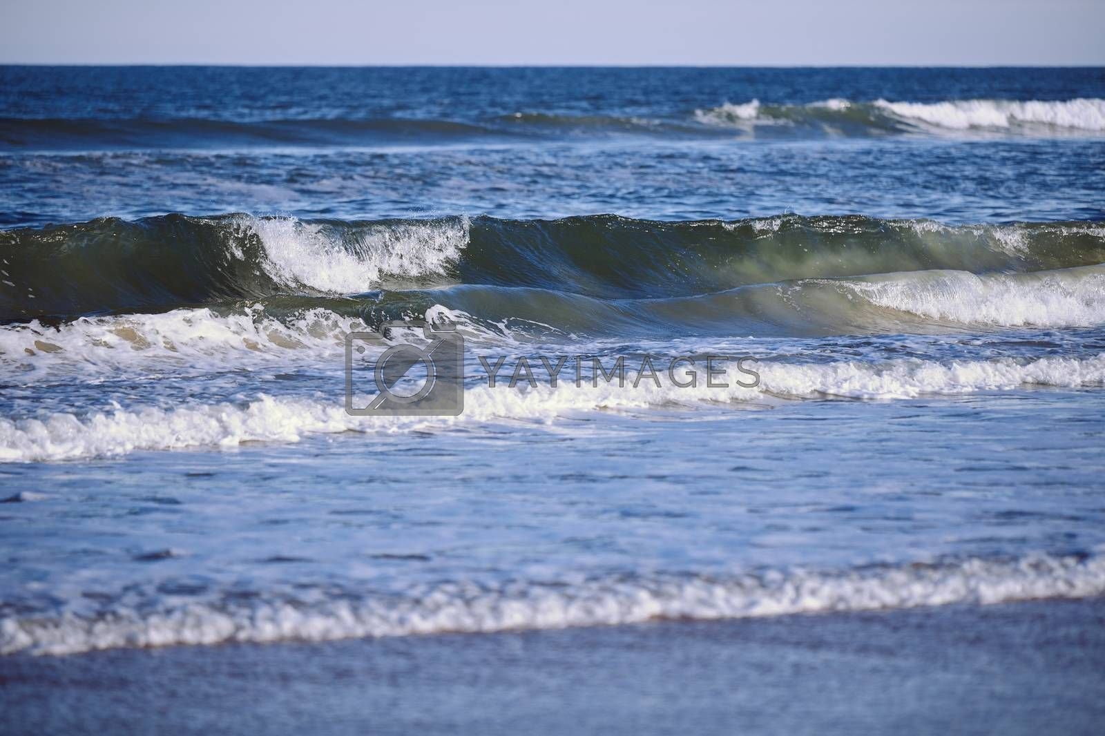 Rough water and waves in Atlantic Ocean. Florida, USA by Novic