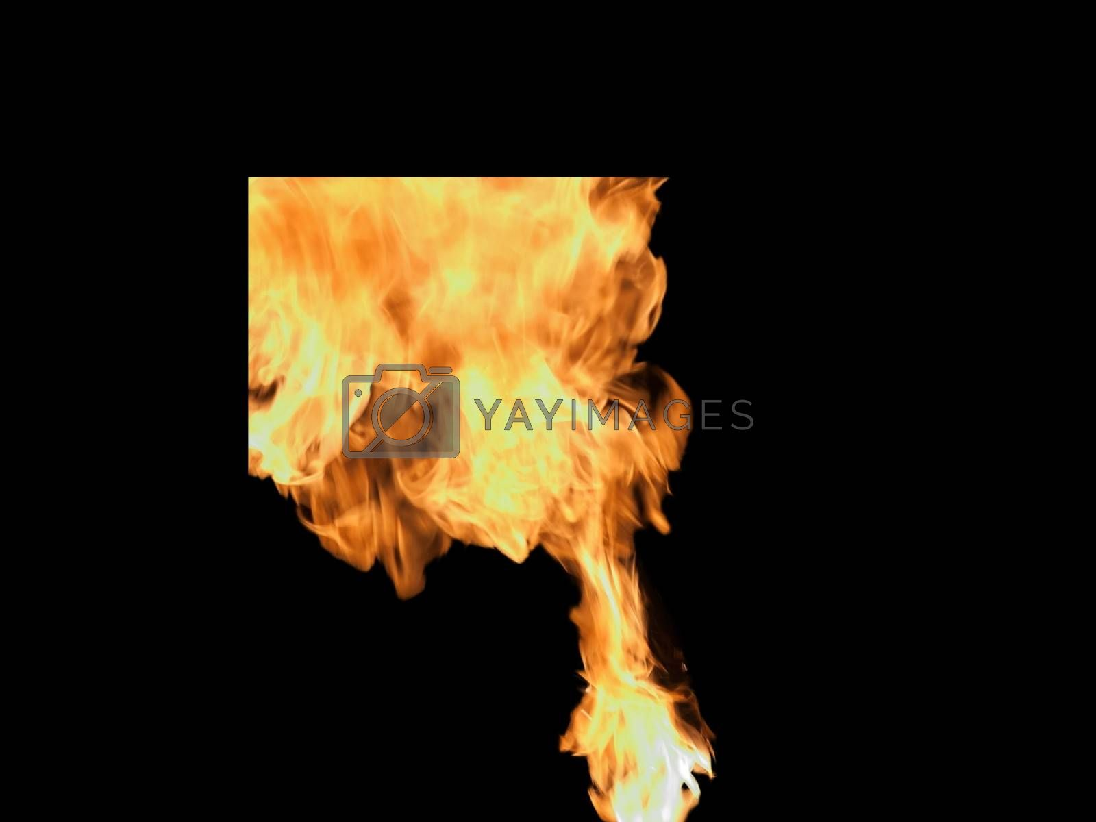 Royalty free image of The flare-up at a circus stunt with a black background by balage941