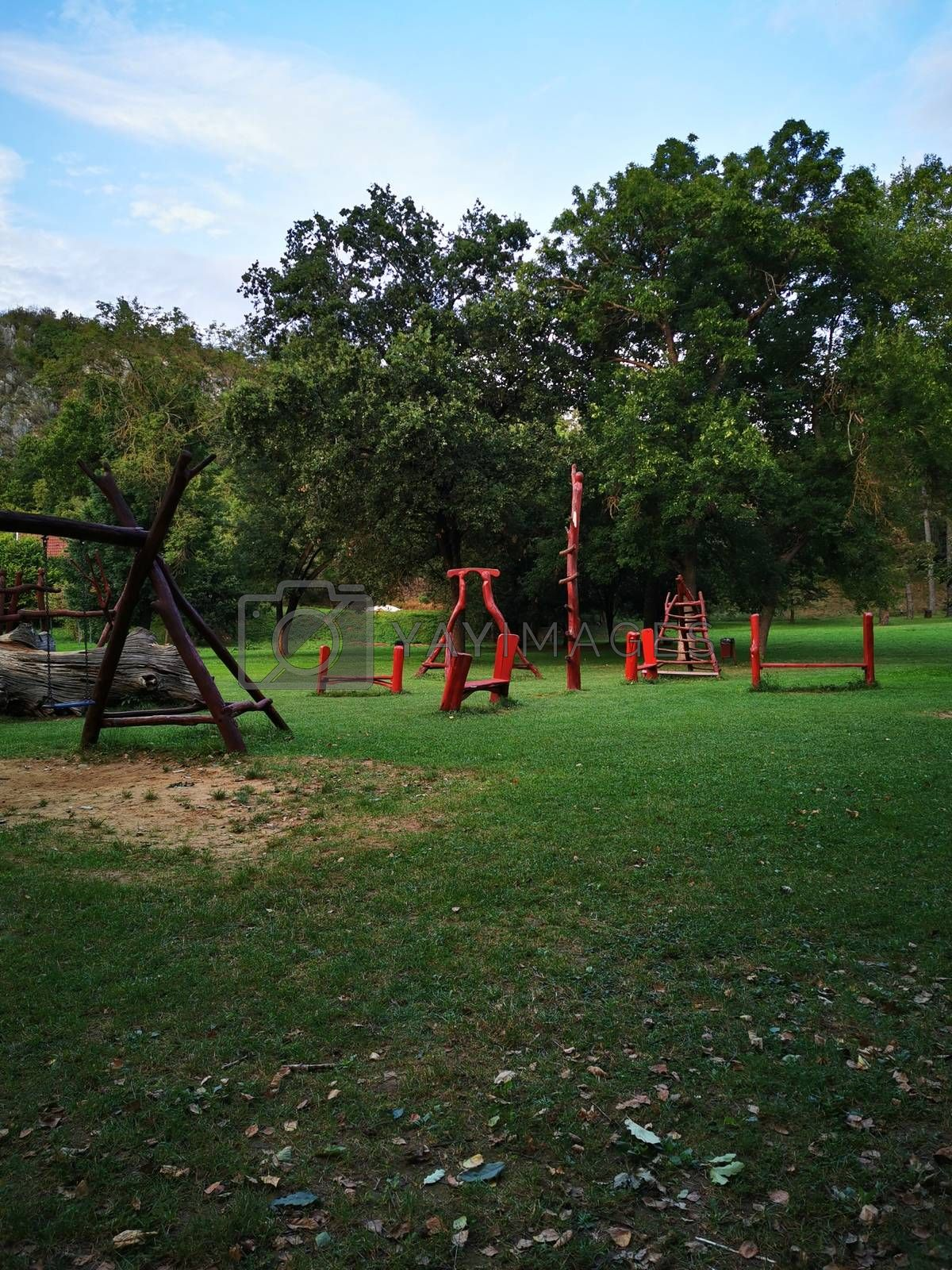 Royalty free image of Playground at the entrance to the Aggtelek Drape cave by balage941