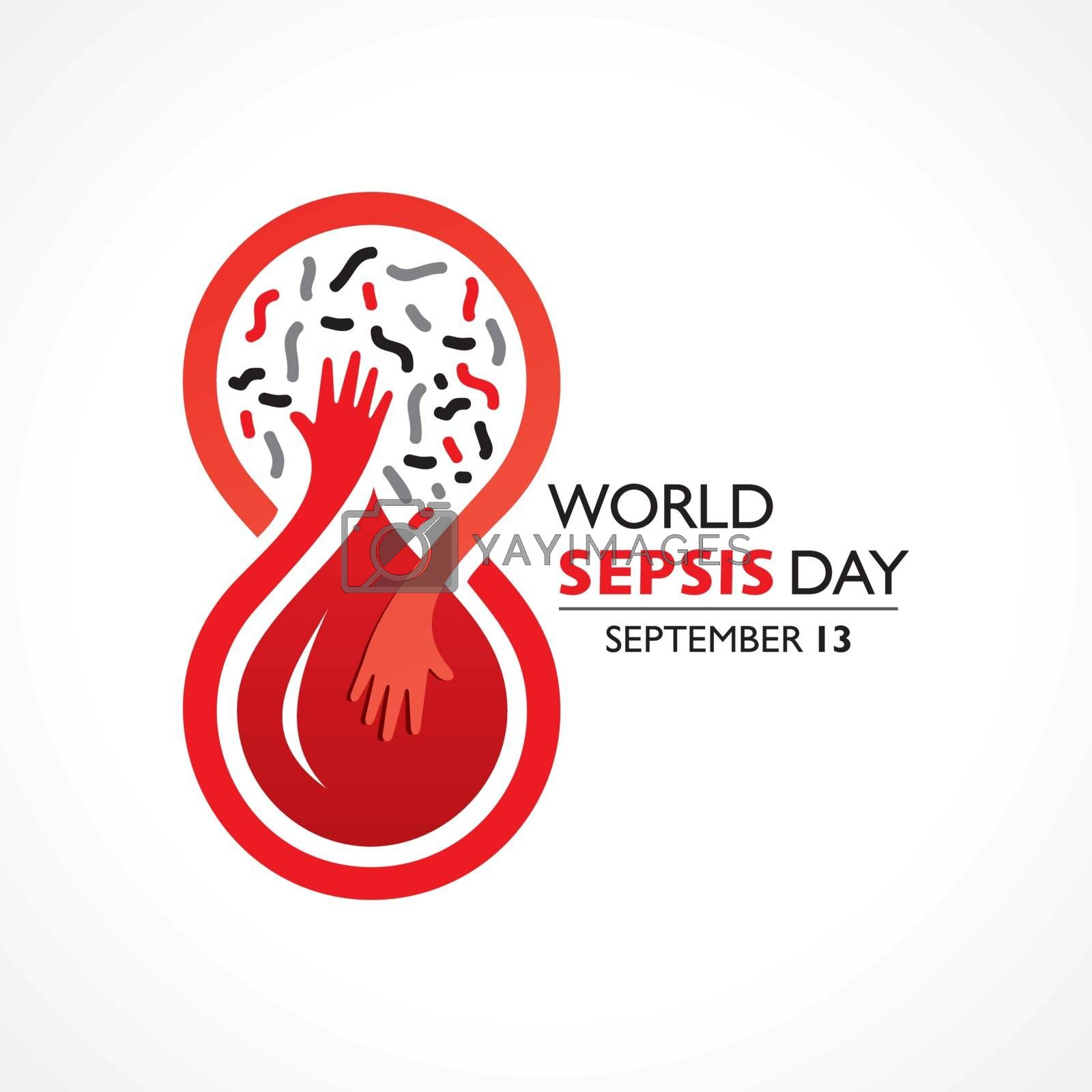 Vector illustration of World Sepsis Day observed on September 13th