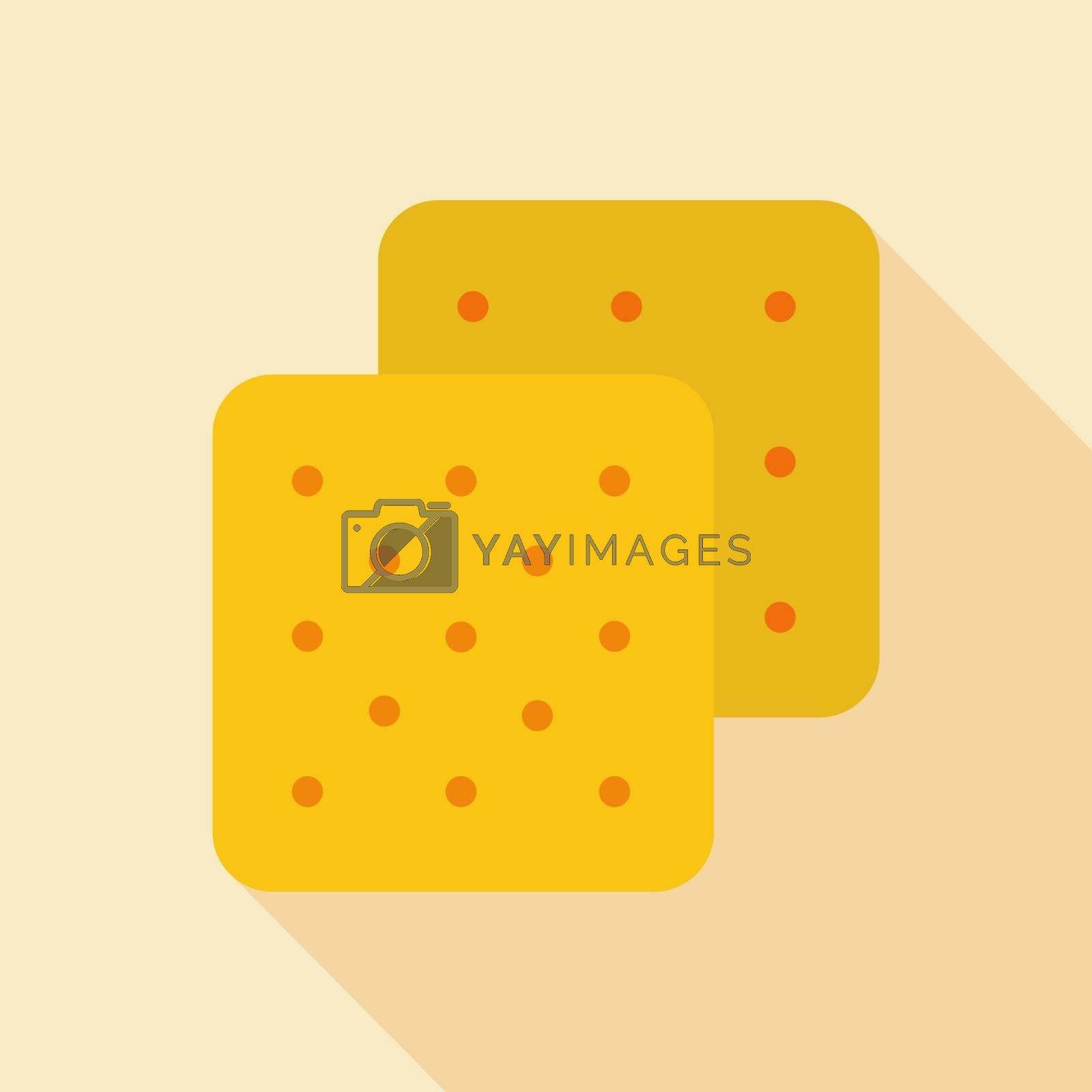 Cookie vector icon. Fast food sign. Graph symbol for cooking web site and apps design, logo, app, UI