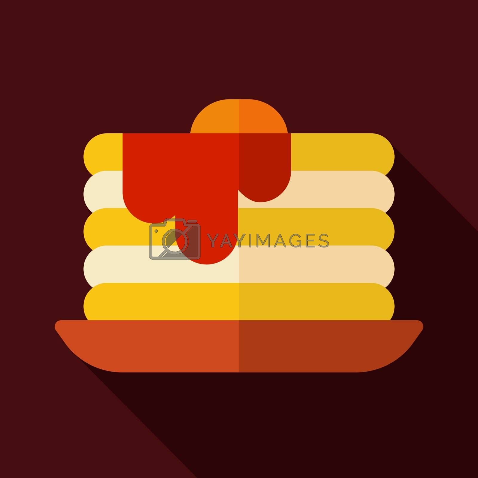 Pancake vector icon. Fast food sign. Graph symbol for cooking web site and apps design, logo, app, UI