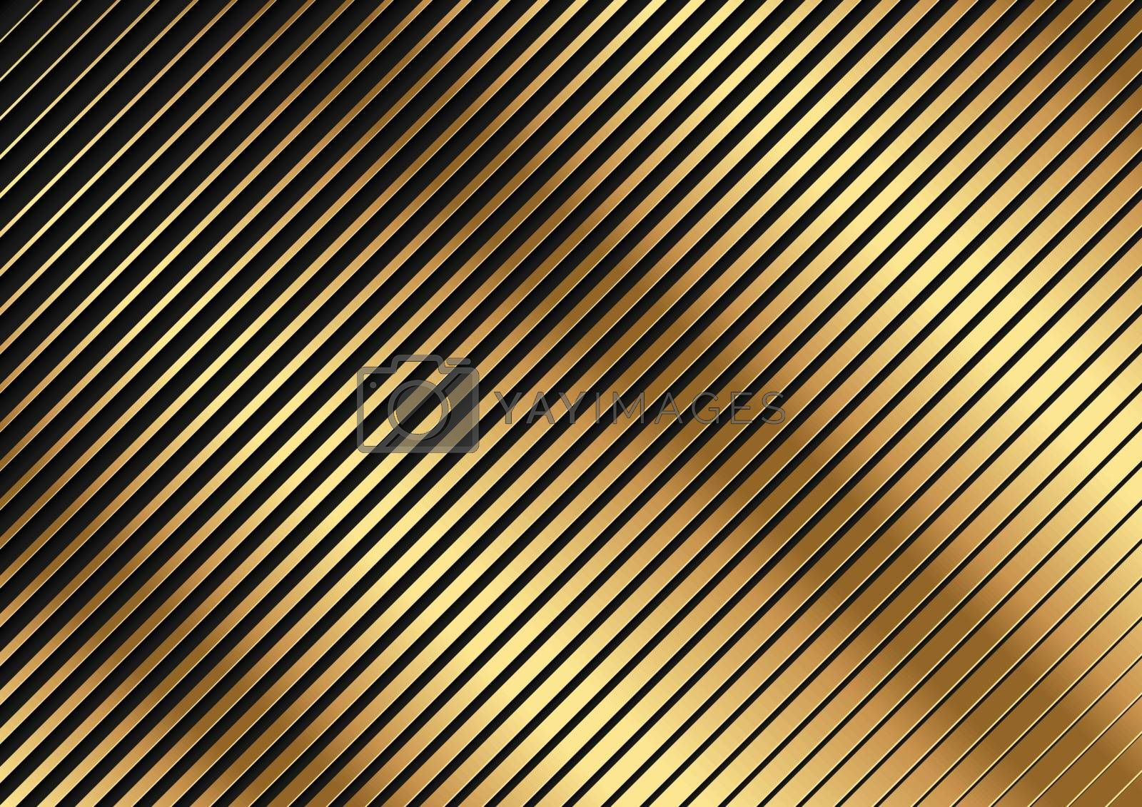Golden Diagonal Striped Pattern - Abstract Background Illustration for Your Graphic Design, Vector