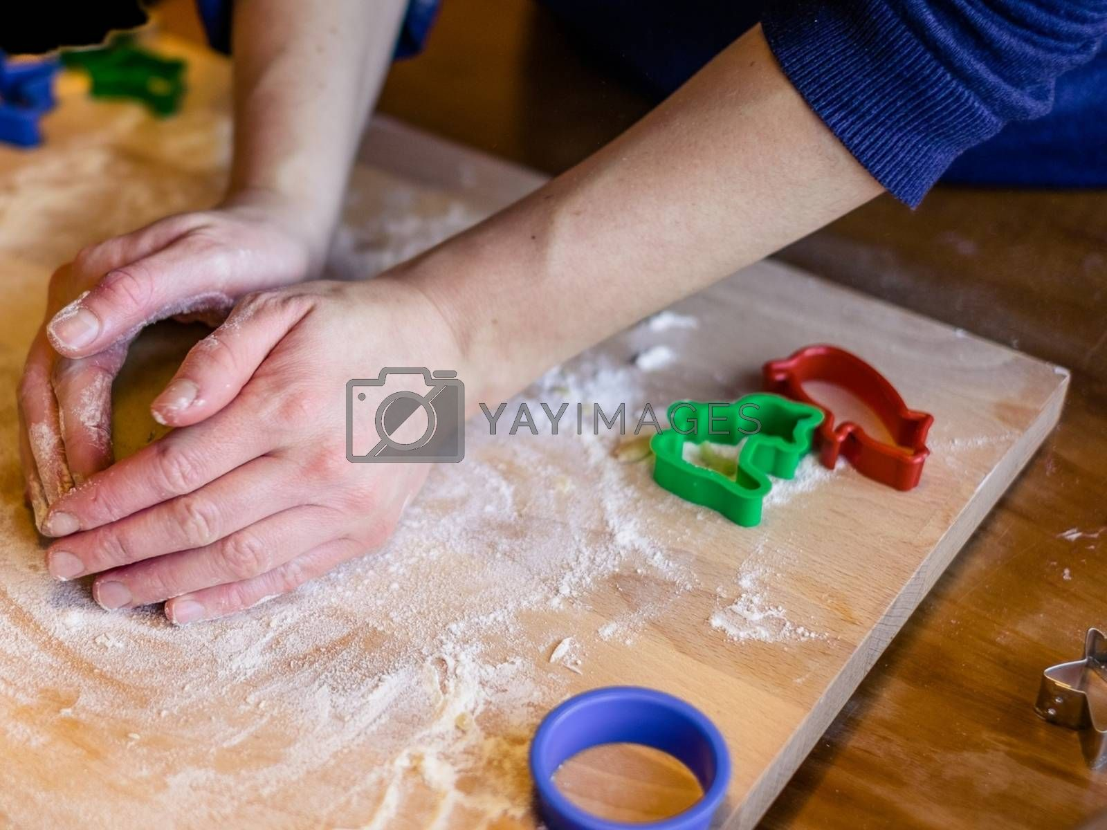 Royalty free image of Lady who made gingerbread from pasta by balage941