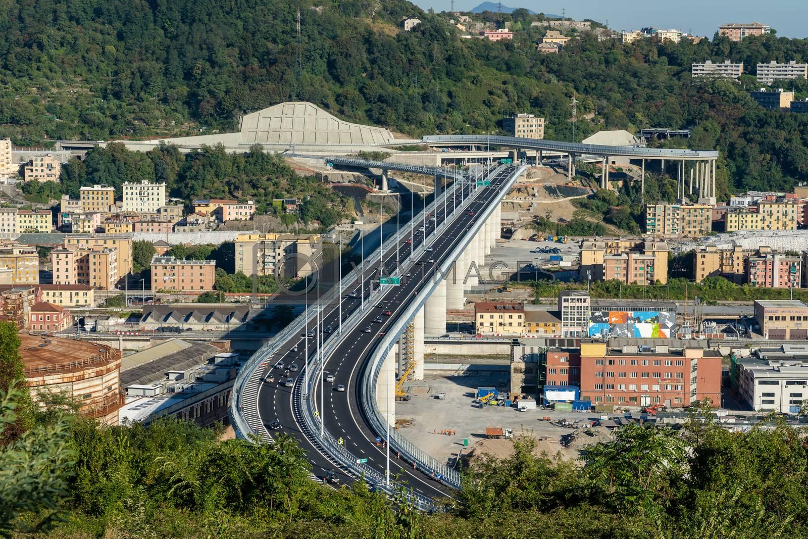 Royalty free image of The new San Giorgio bridge in Genoa, Italy. by maramade