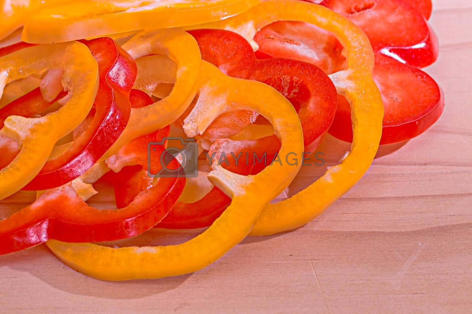 Royalty free image of Close-up of California peppers on the table by balage941