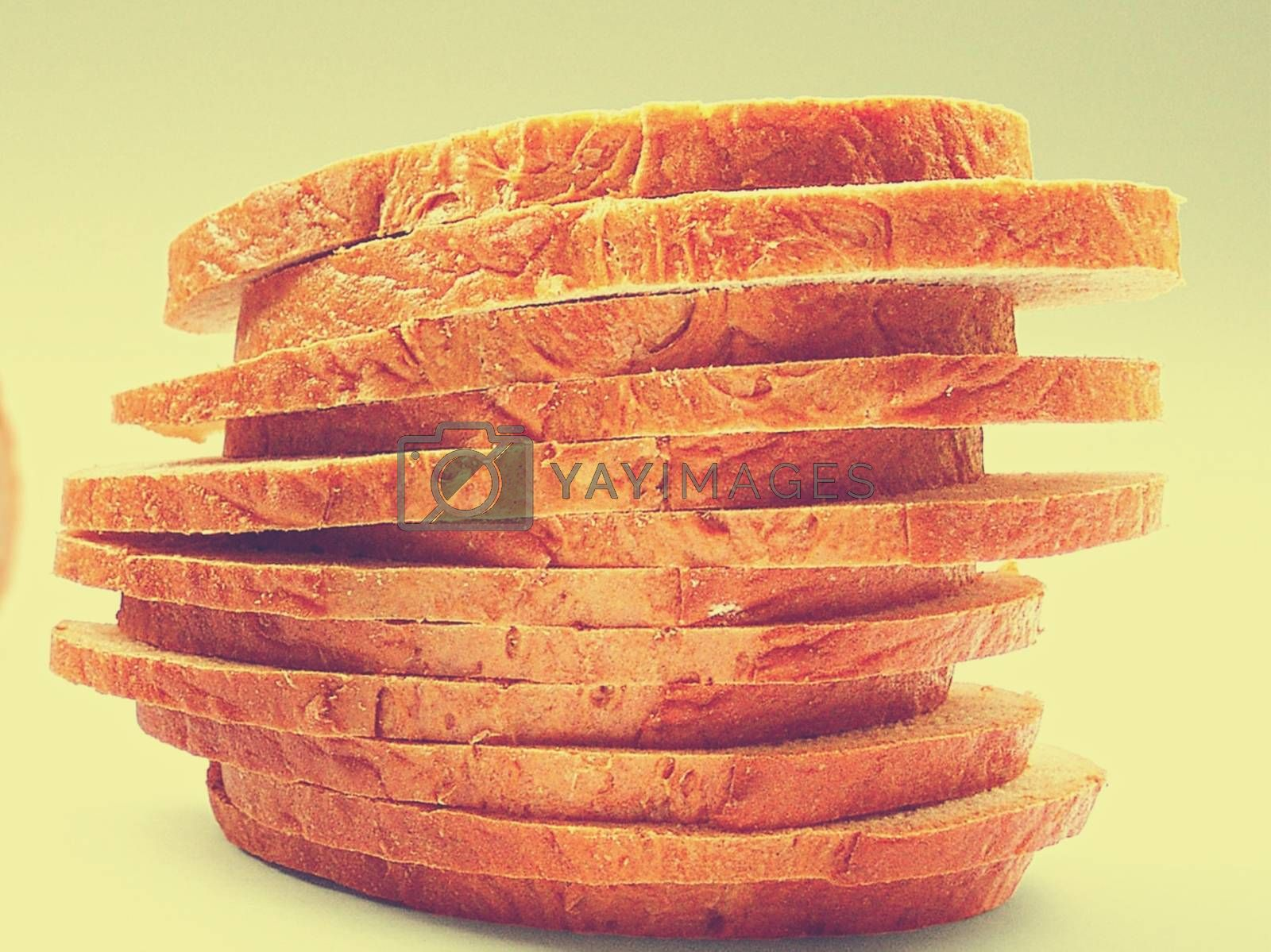 Royalty free image of Close-up of bread slices stacked on top of each other by balage941