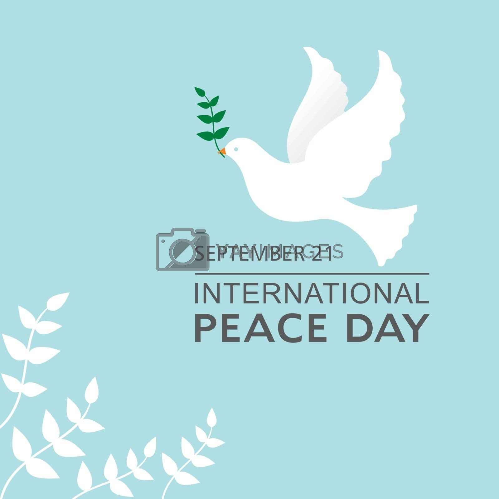 Vector Illustration of International Peace Day observed on September 21