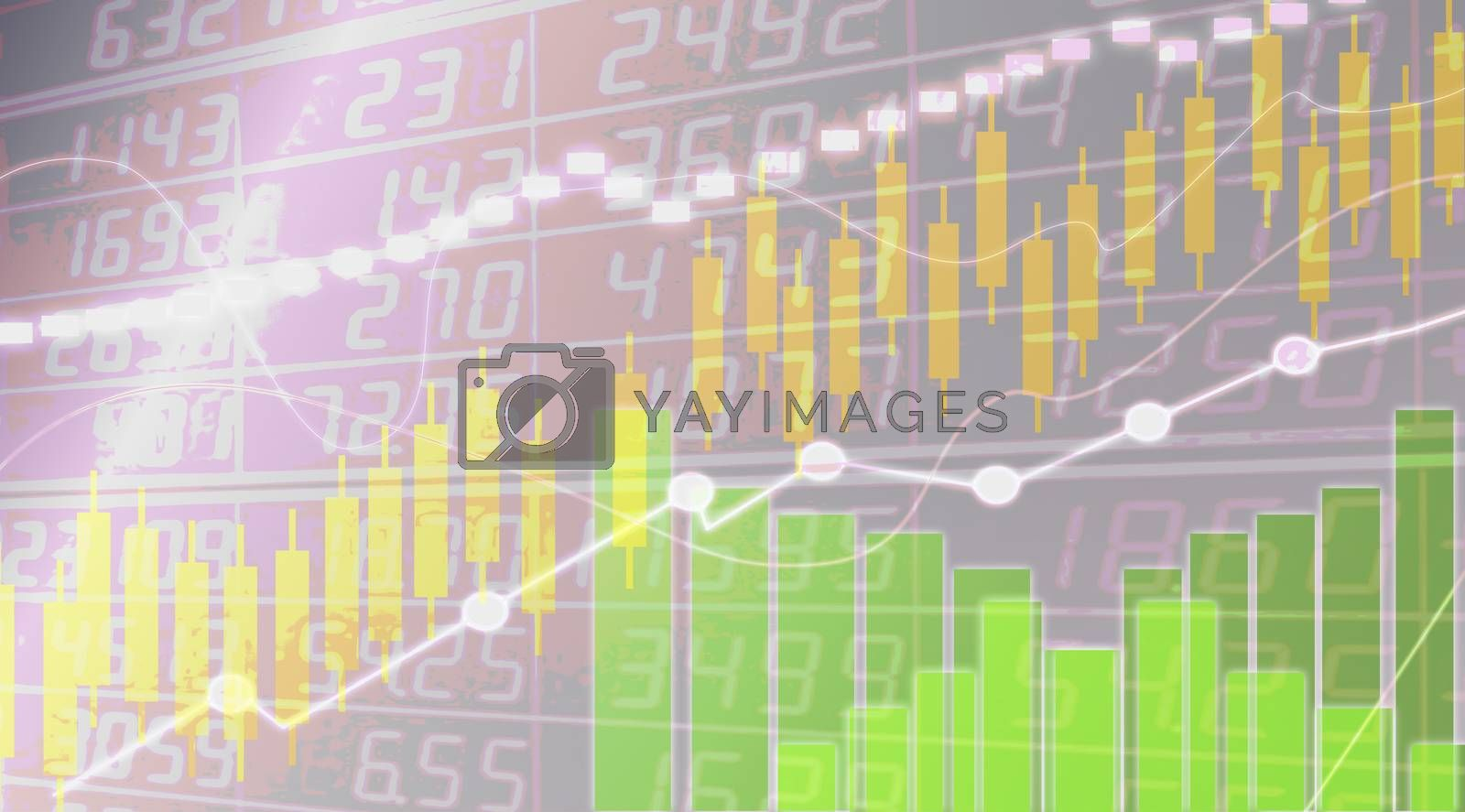 Abstract business graph of growing figures statistics stock Of companies