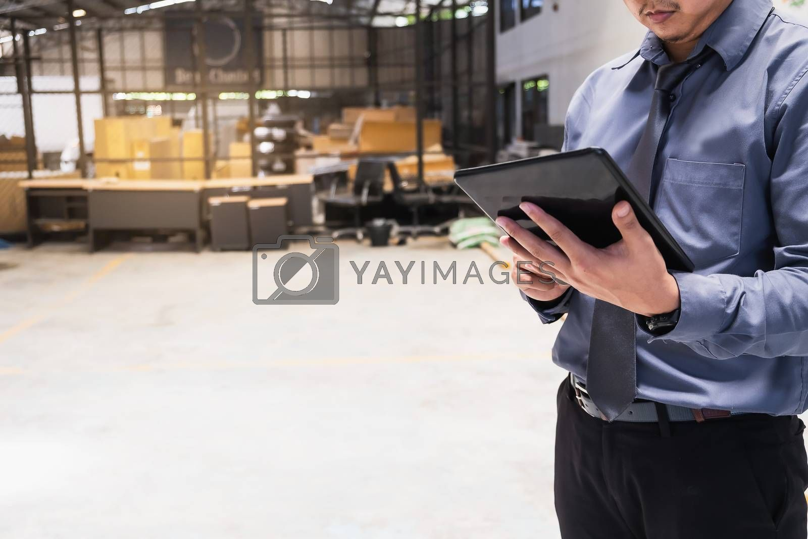 Asian business man writing clipboard on blurred background.metap by oatzpenzstudio