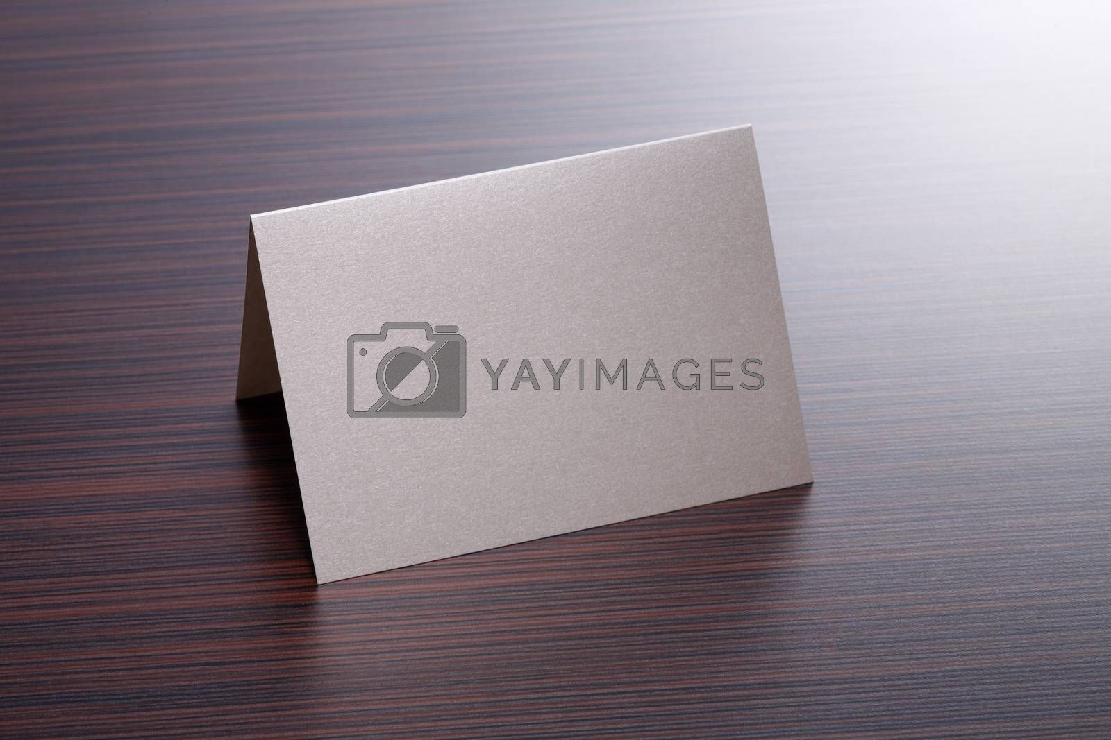 Blank Card on the table top