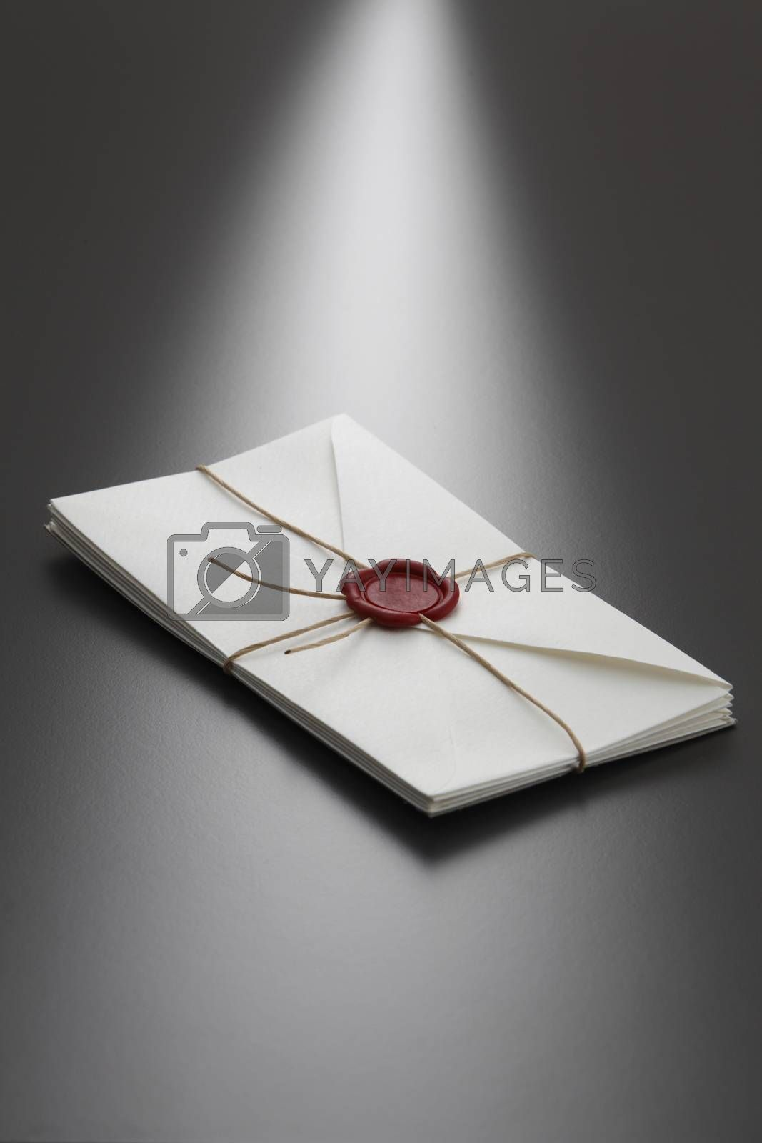 white envelopes with security seal