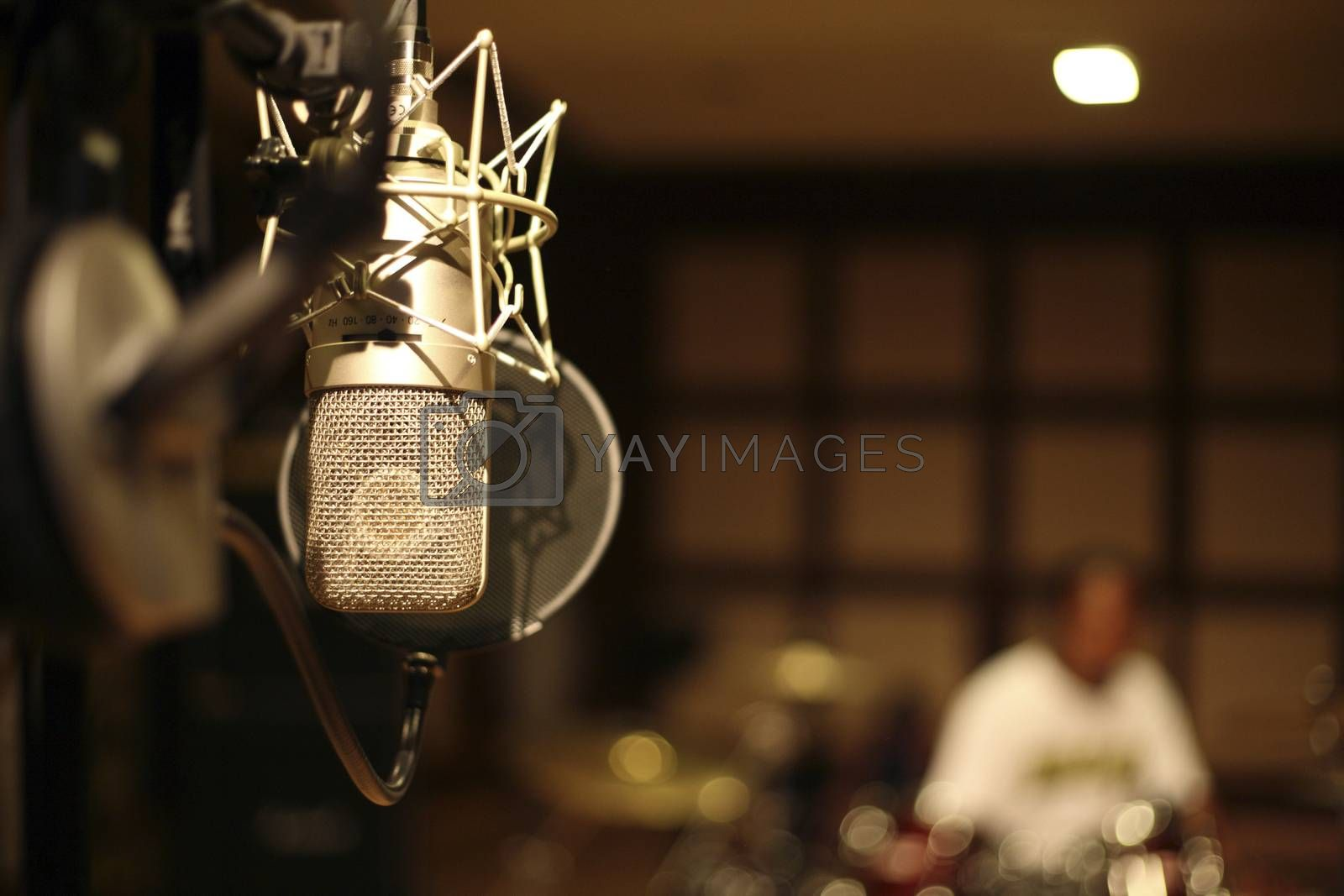 microphone in the recording room