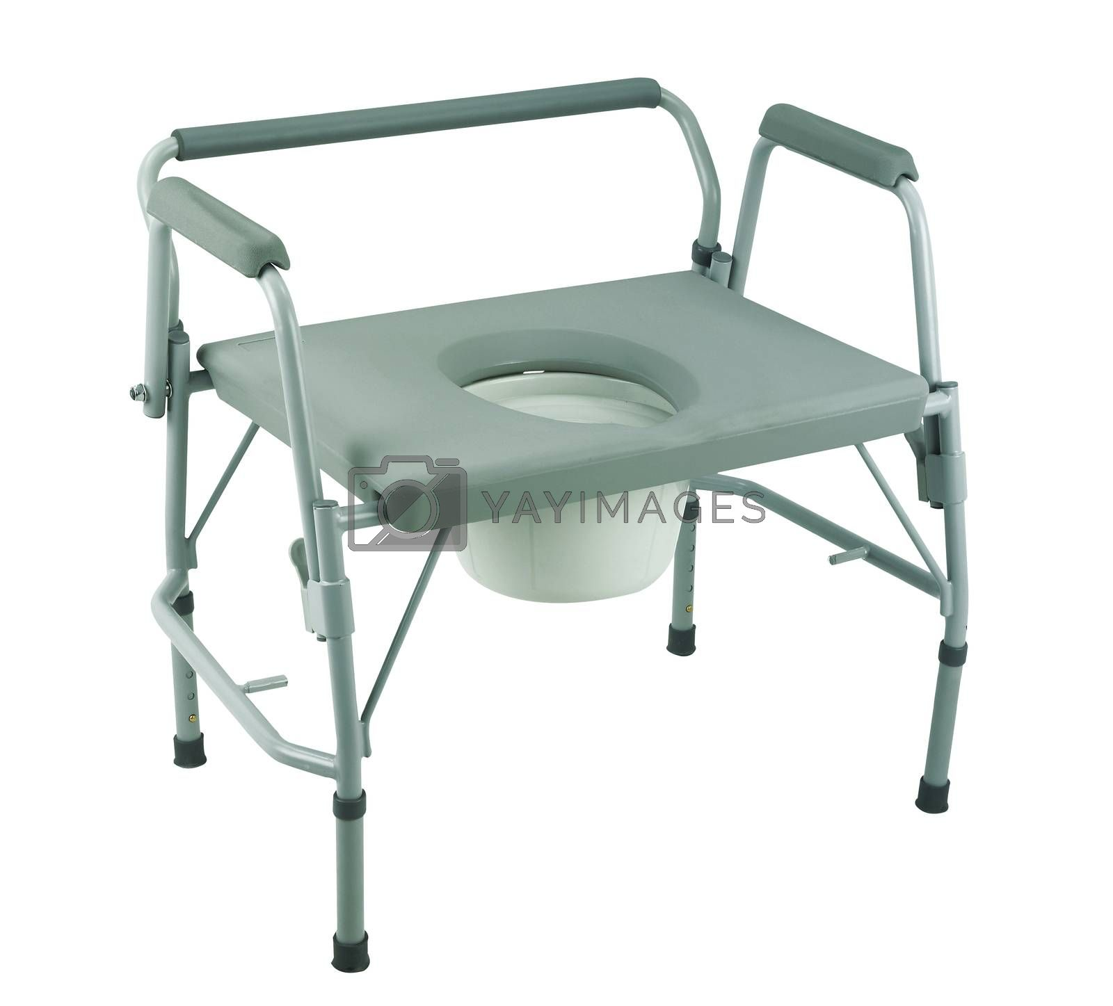 commode  chair with clipping path