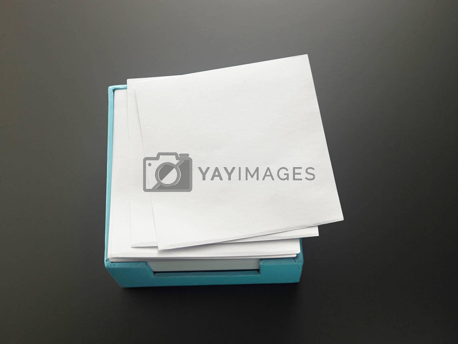 box of the memo pad