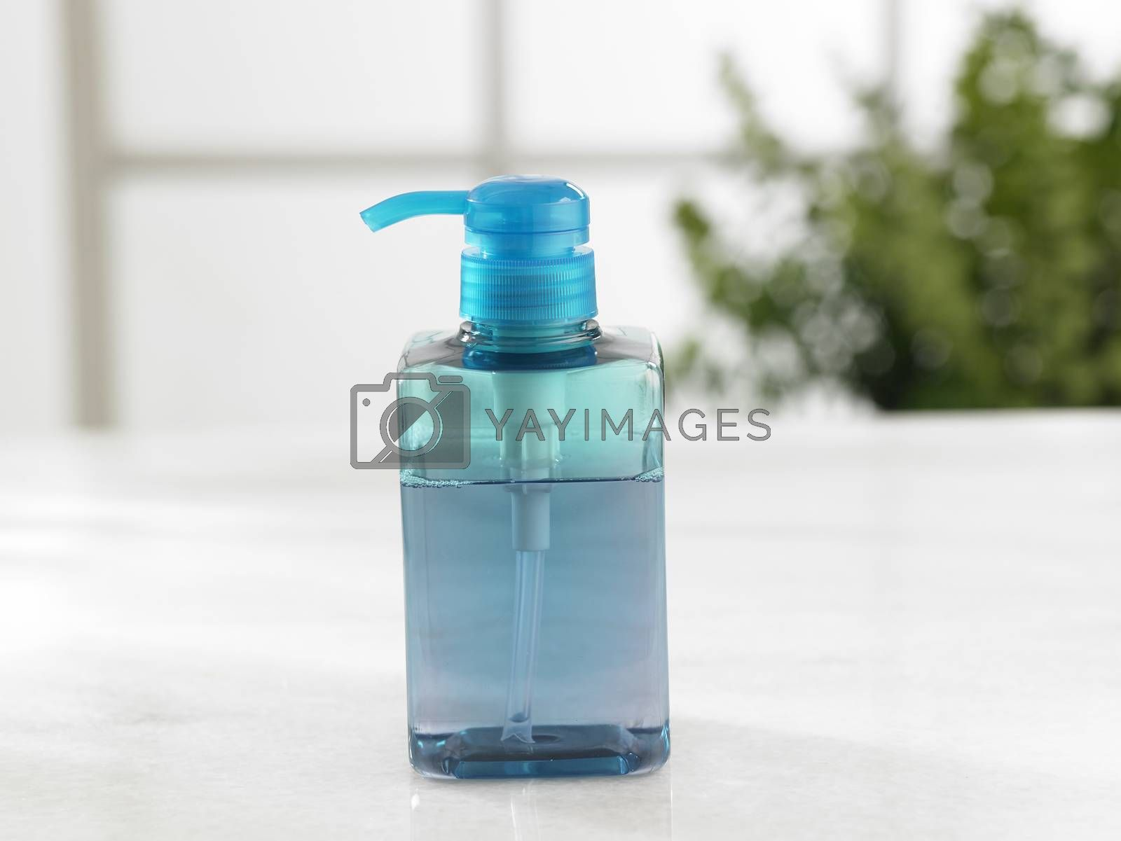bottle of the soap dispencer