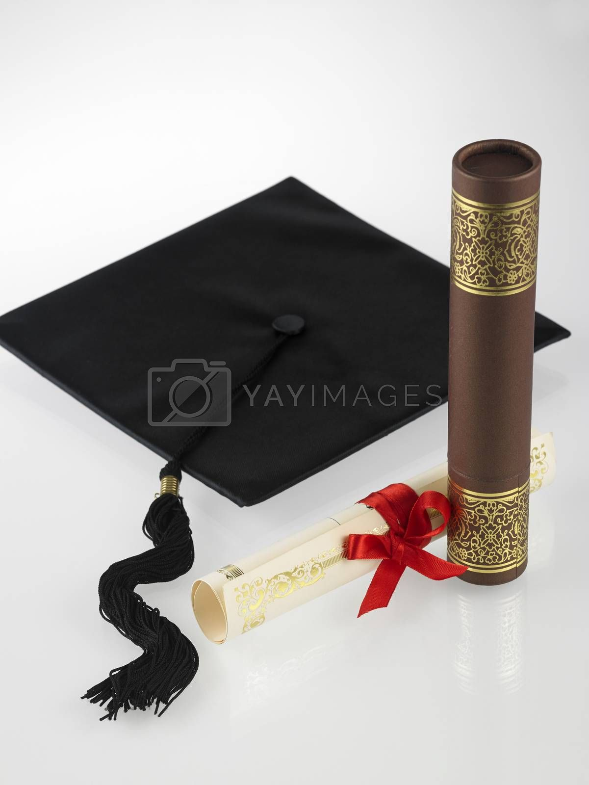 education icon,certificate,holder and mortar board