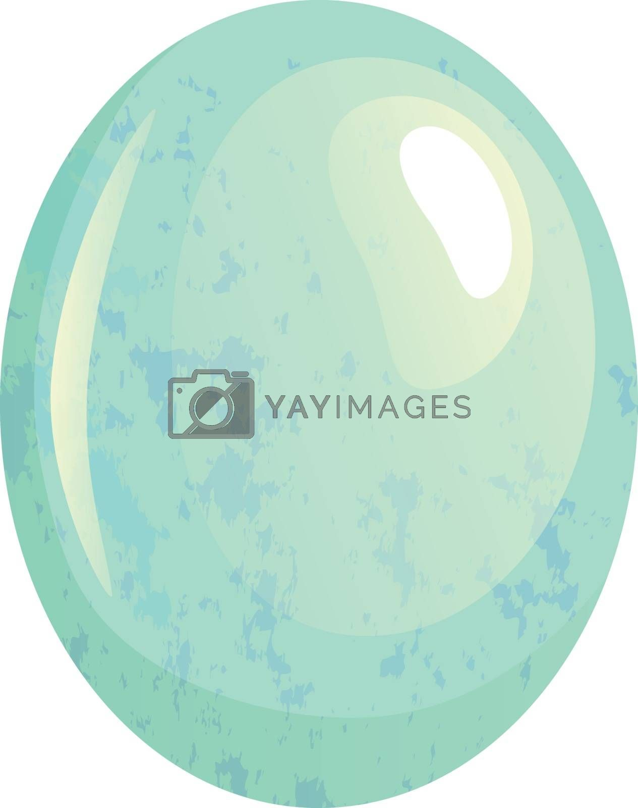 Bird egg isolated. Spotted egg vector illustration